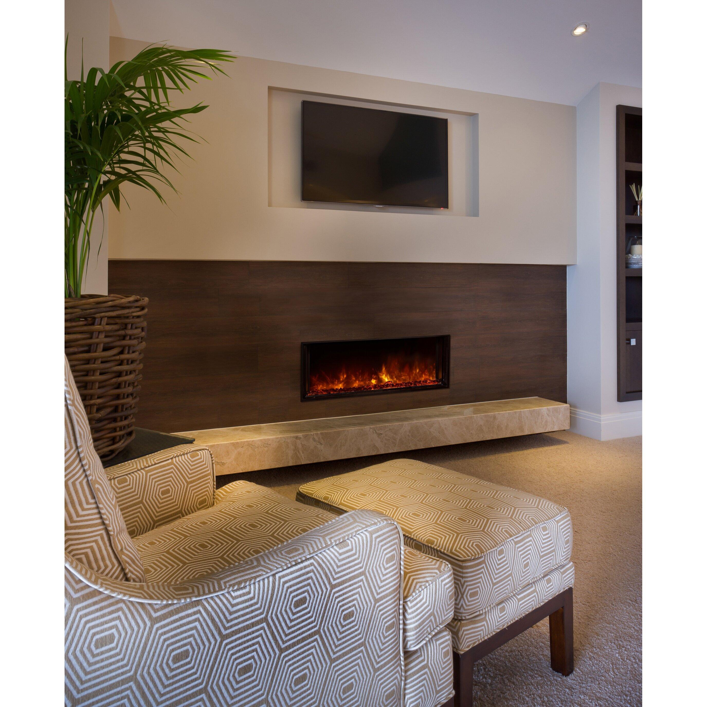 Modern flames landscape fullview series wall mount electric fireplace reviews wayfair - Contemporary wall mount fireplace ...