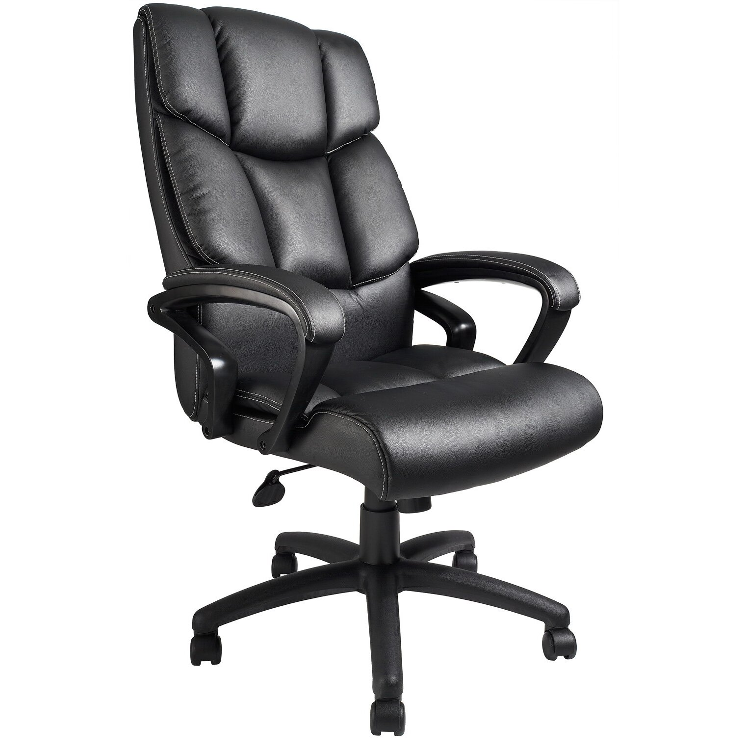 boss office products adjustable high back leather executive chair reviews wayfair. Black Bedroom Furniture Sets. Home Design Ideas
