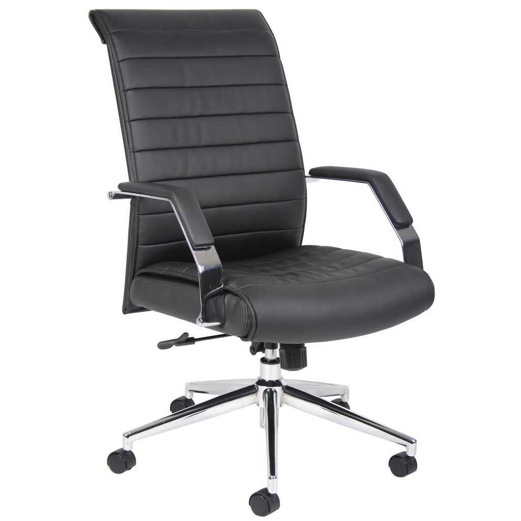 Boss Office Products Caressoft Plus Adjustable High Back Office Chair R