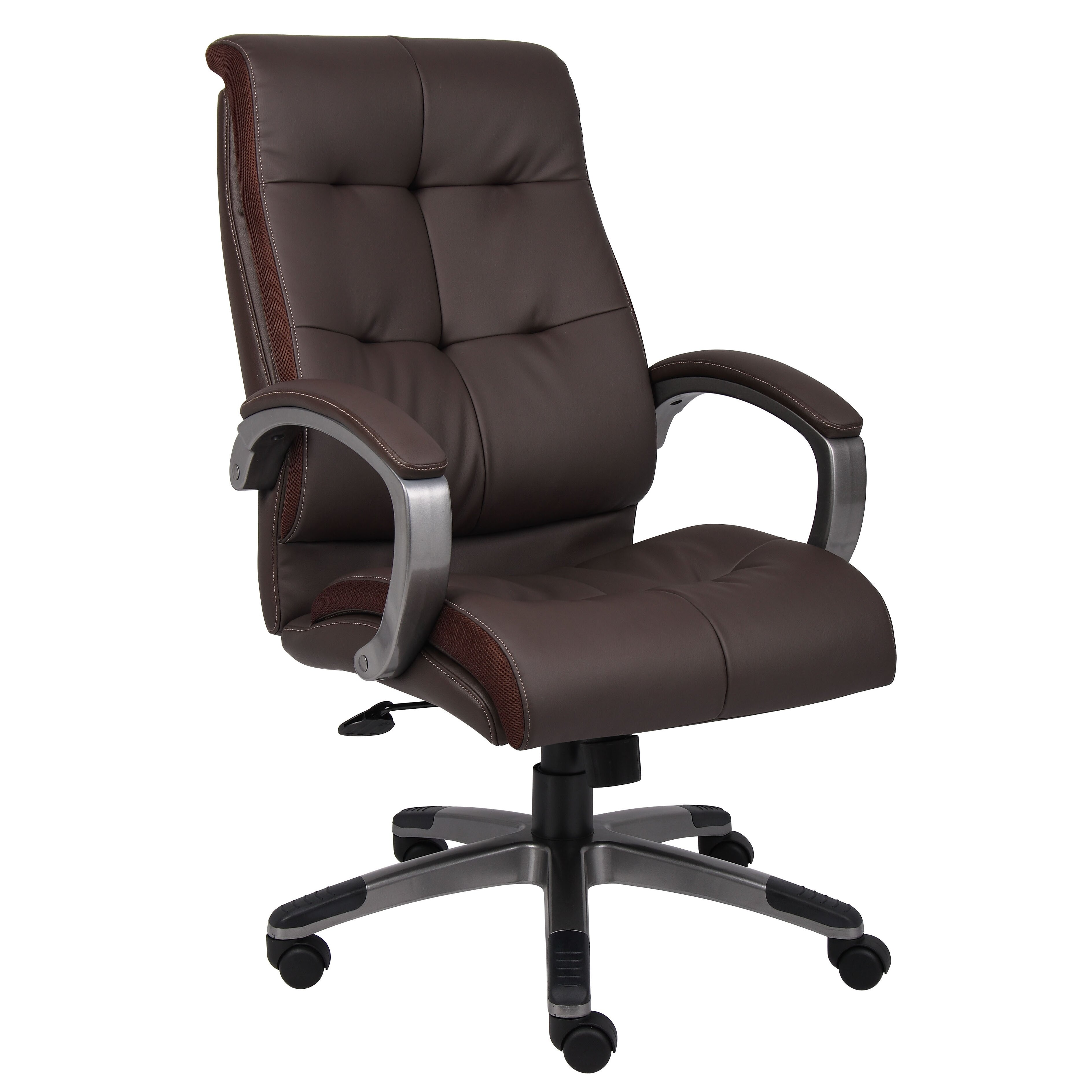 boss office products high back double plush executive