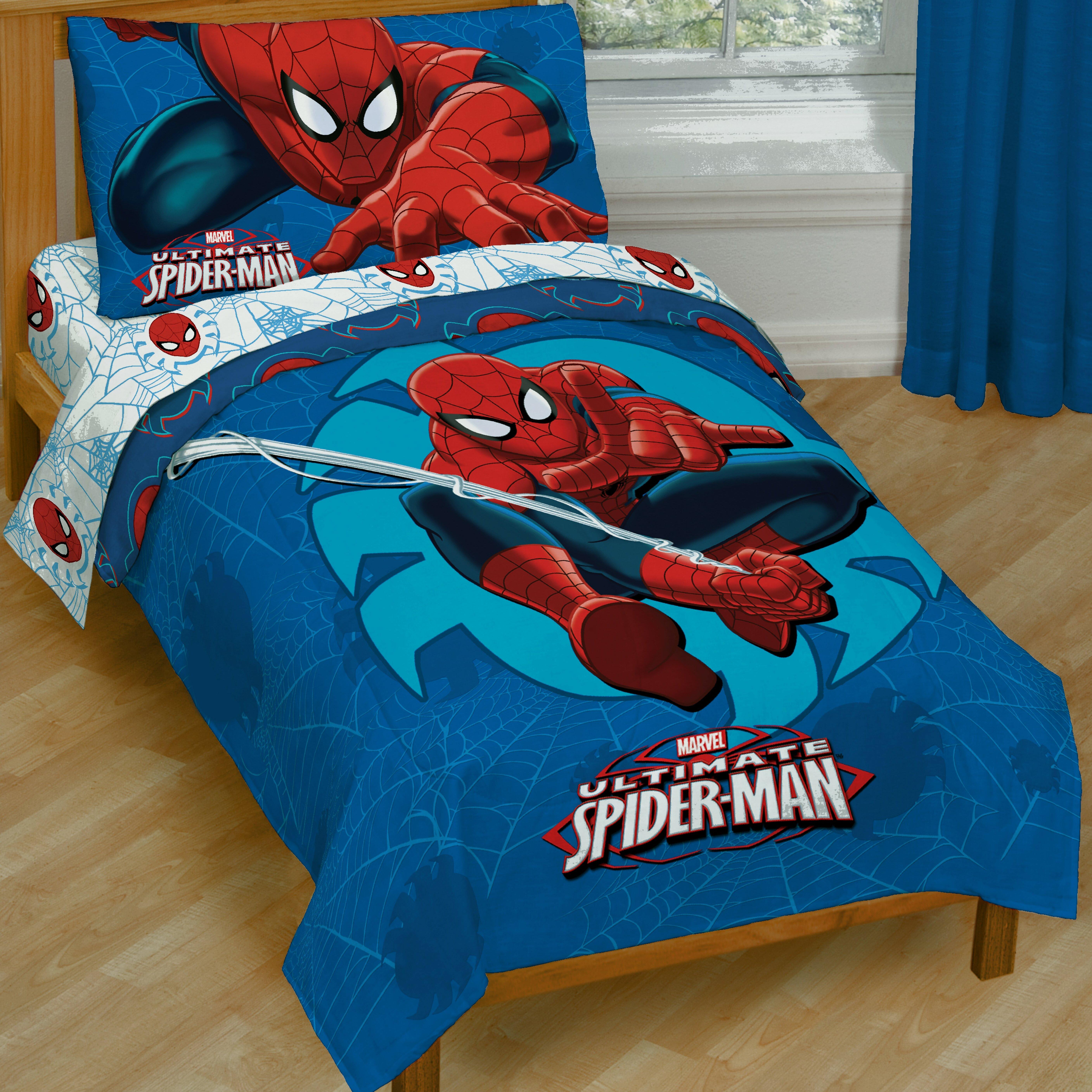Marvel Spiderman Toddler Bedding Set Amp Reviews