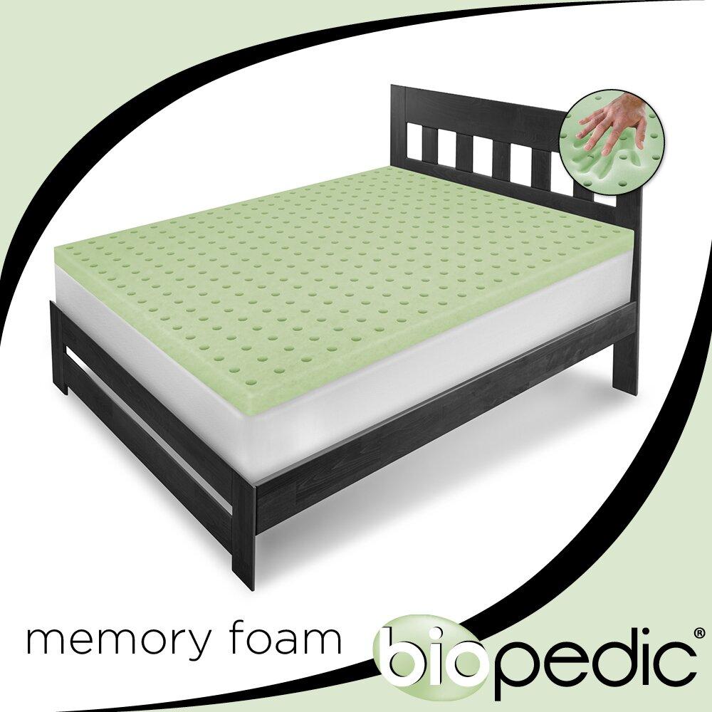 Biopedic Mattress Topper BioPEDIC Classic Ventilated Memory Foam Mattress Topper & Reviews ...