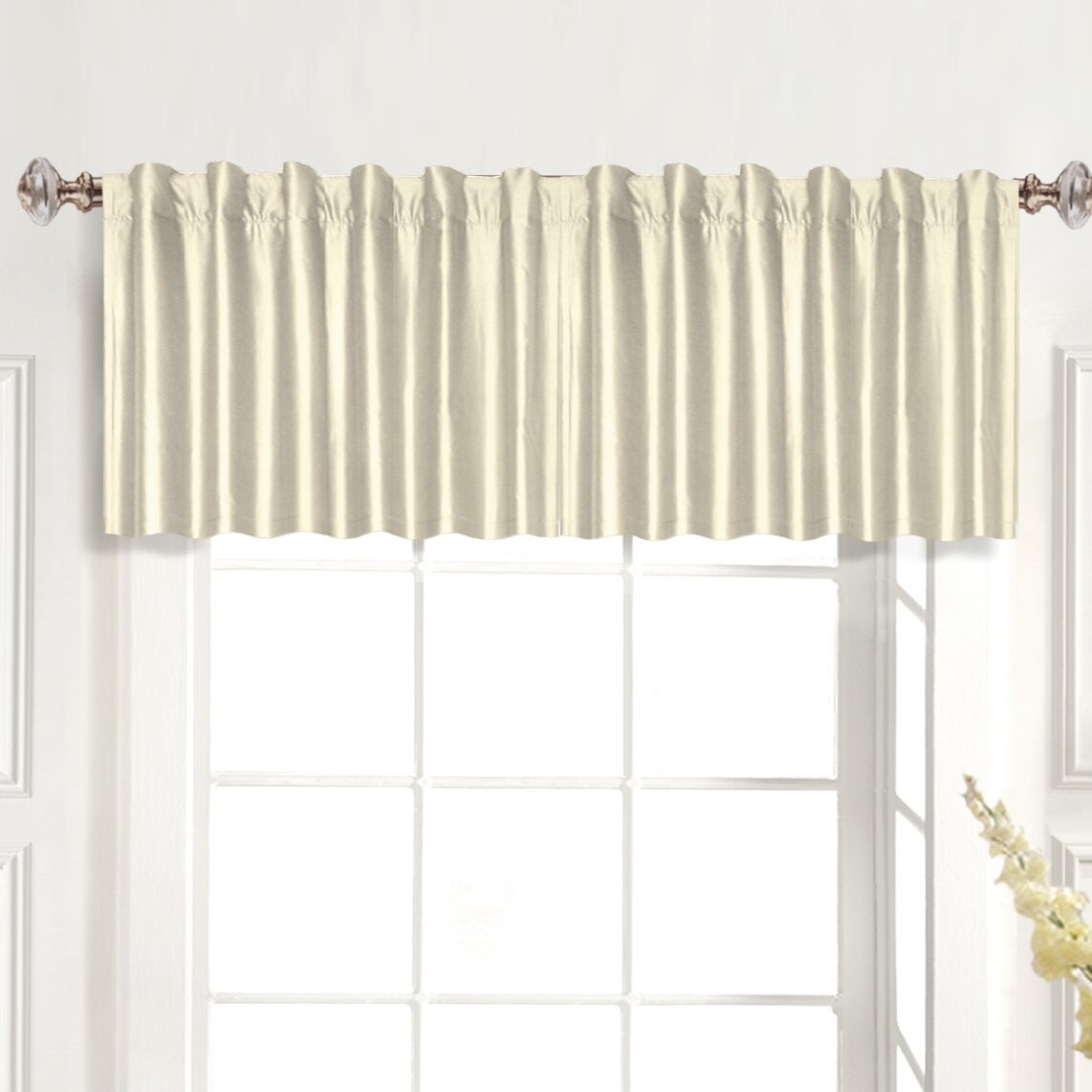 United Curtain Co Dupioni Rod Pocket Tailored 42 Curtain Valance Reviews Wayfair