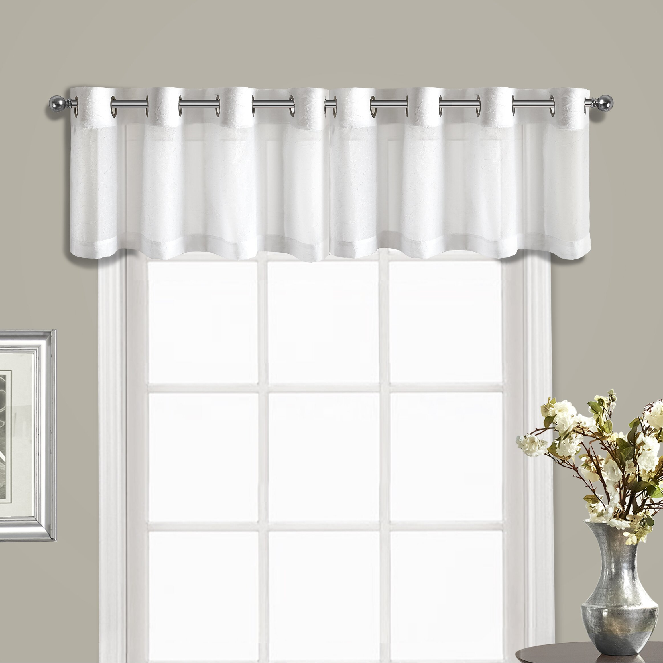 Grommet Kitchen Curtains: United Curtain Co. Venetian Topper Curtain Valance