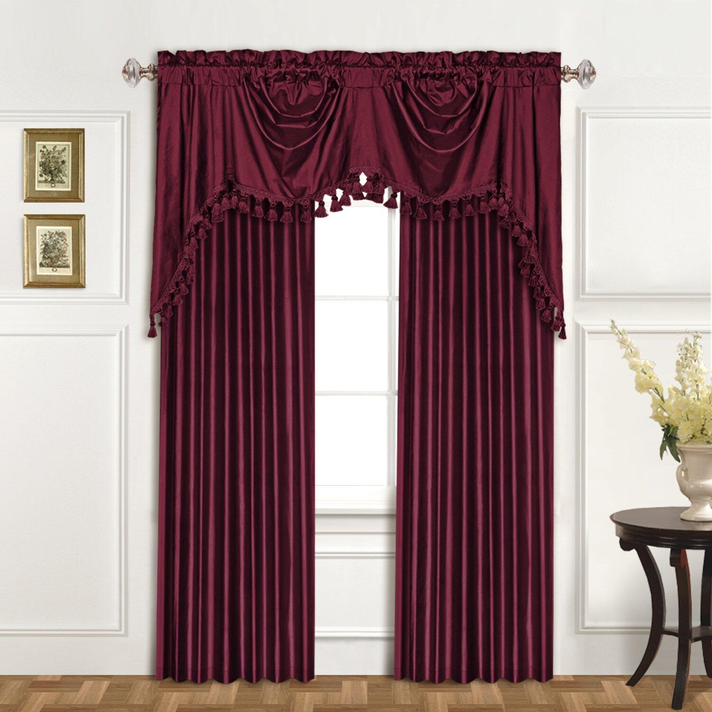 United Curtain Co Dupioni Silk Rod Pocket Swag 108