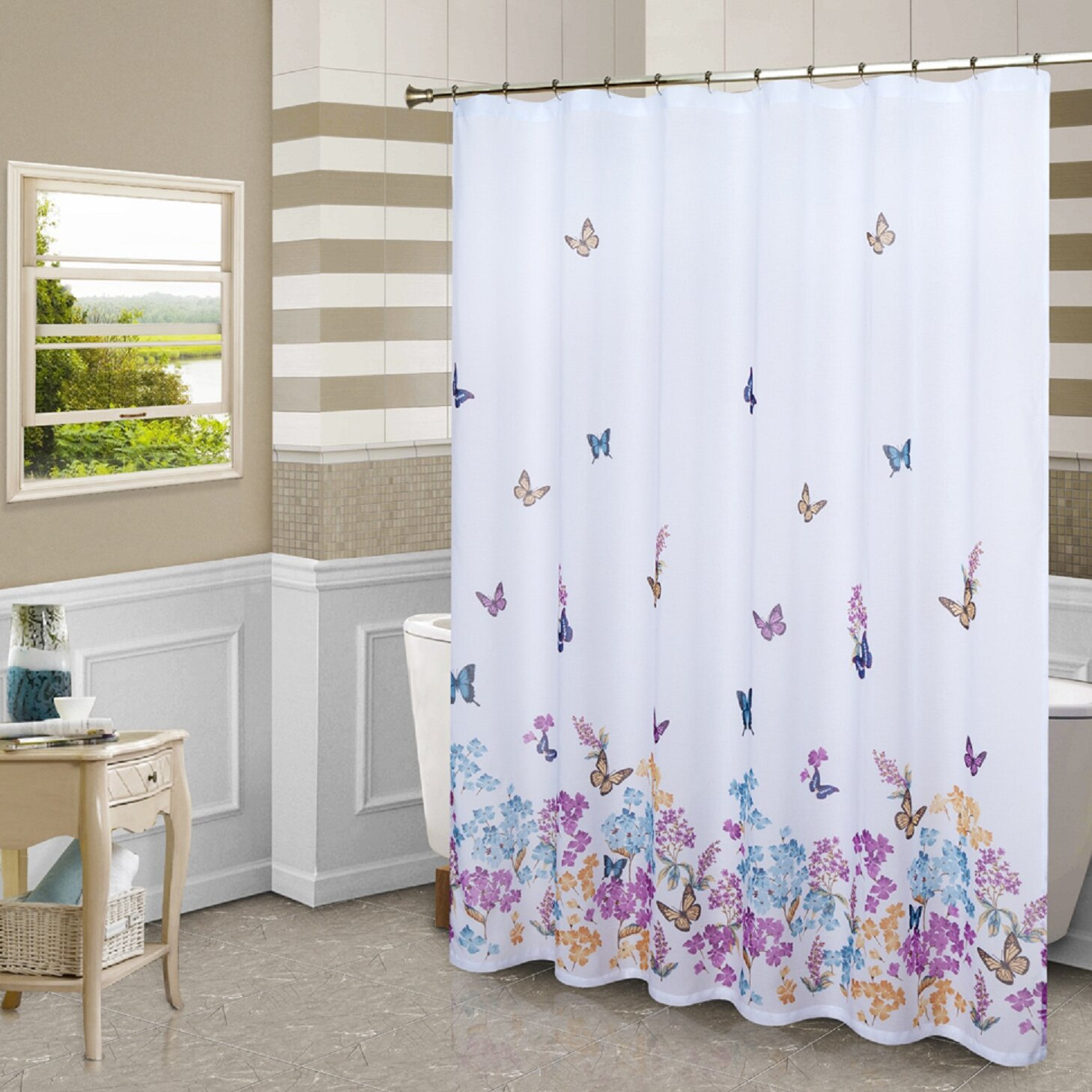 United Curtain Co Butterfly Shower Curtain Amp Reviews