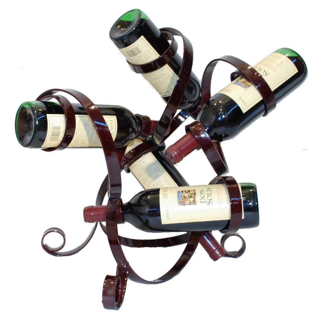 Metrotex designs 5 bottle tabletop wine rack reviews for Wine bottle christmas tree frame for sale