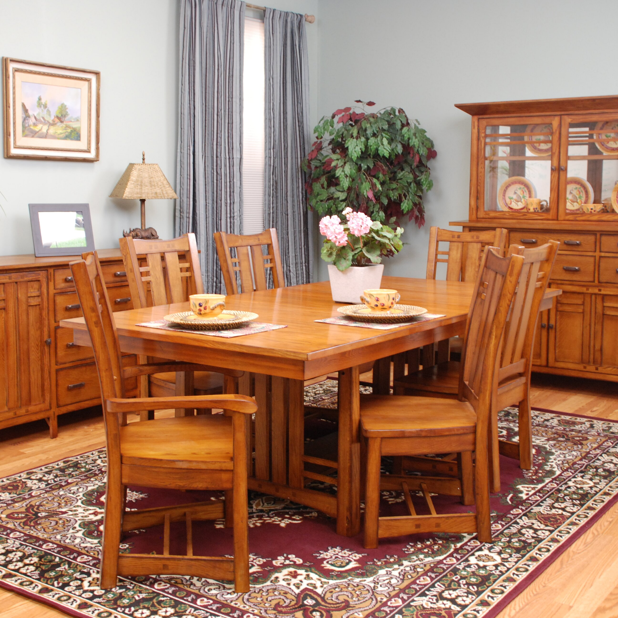 Mastercraft collections arts and crafts bungalow for Arts and crafts dining room furniture