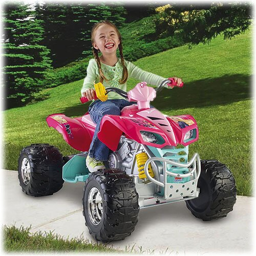 Fisher-Price Power Wheels Barbie Kawasaki KFX 12V Battery Powered ATV & Reviews | Wayfair