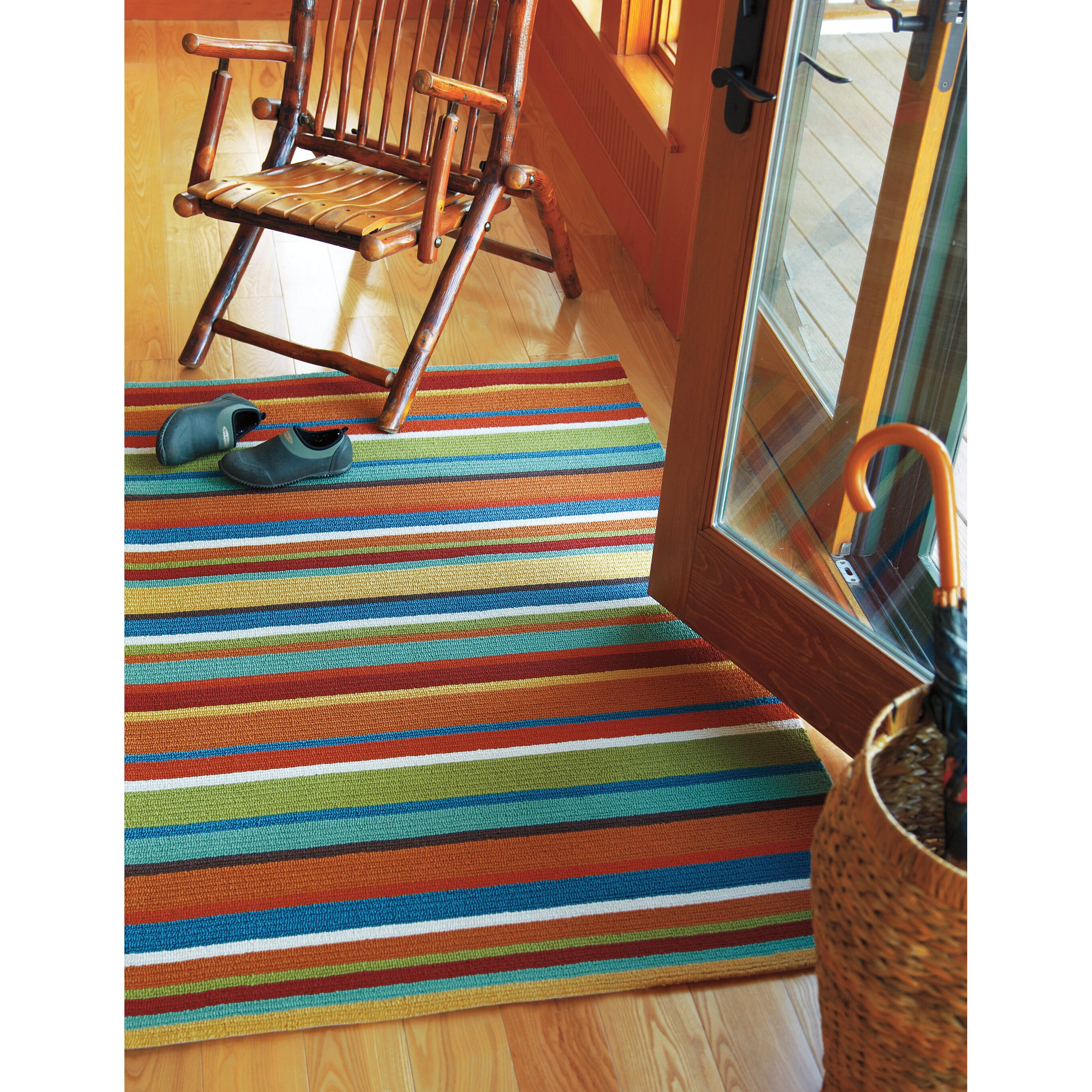 cabana stripe rug company c cabana orange stripe area rug amp reviews wayfair 1900