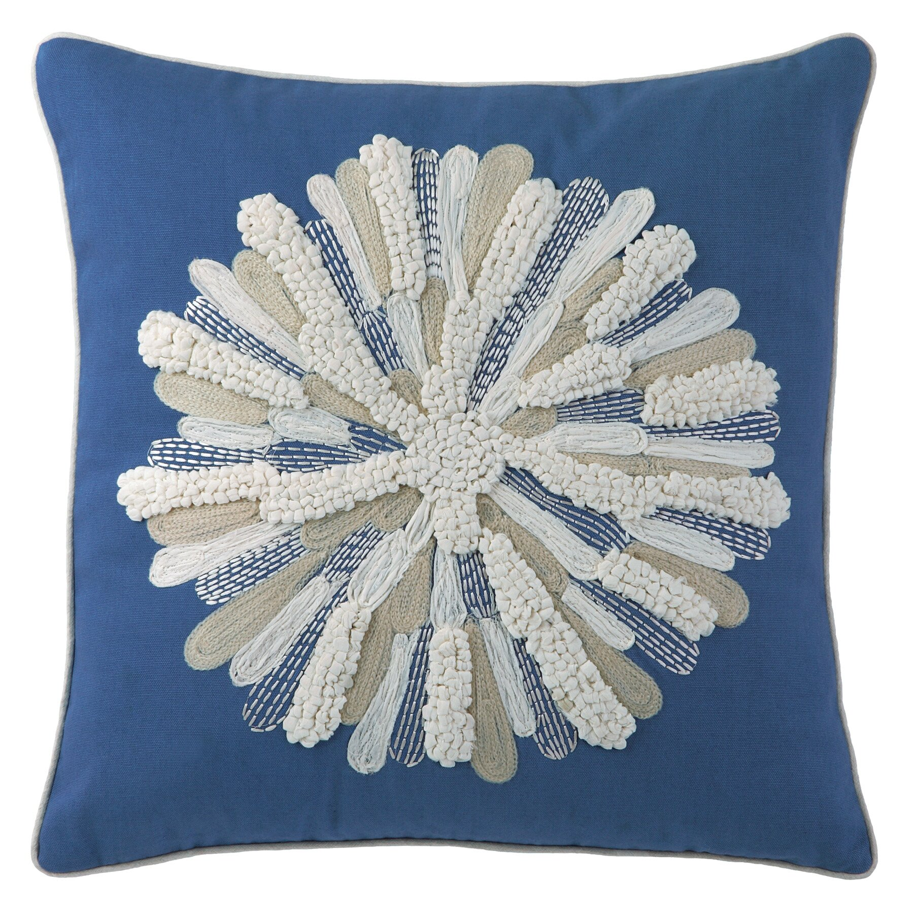 Wayfair Blue Decorative Pillows : Company C Asters Cotton Throw Pillow & Reviews Wayfair