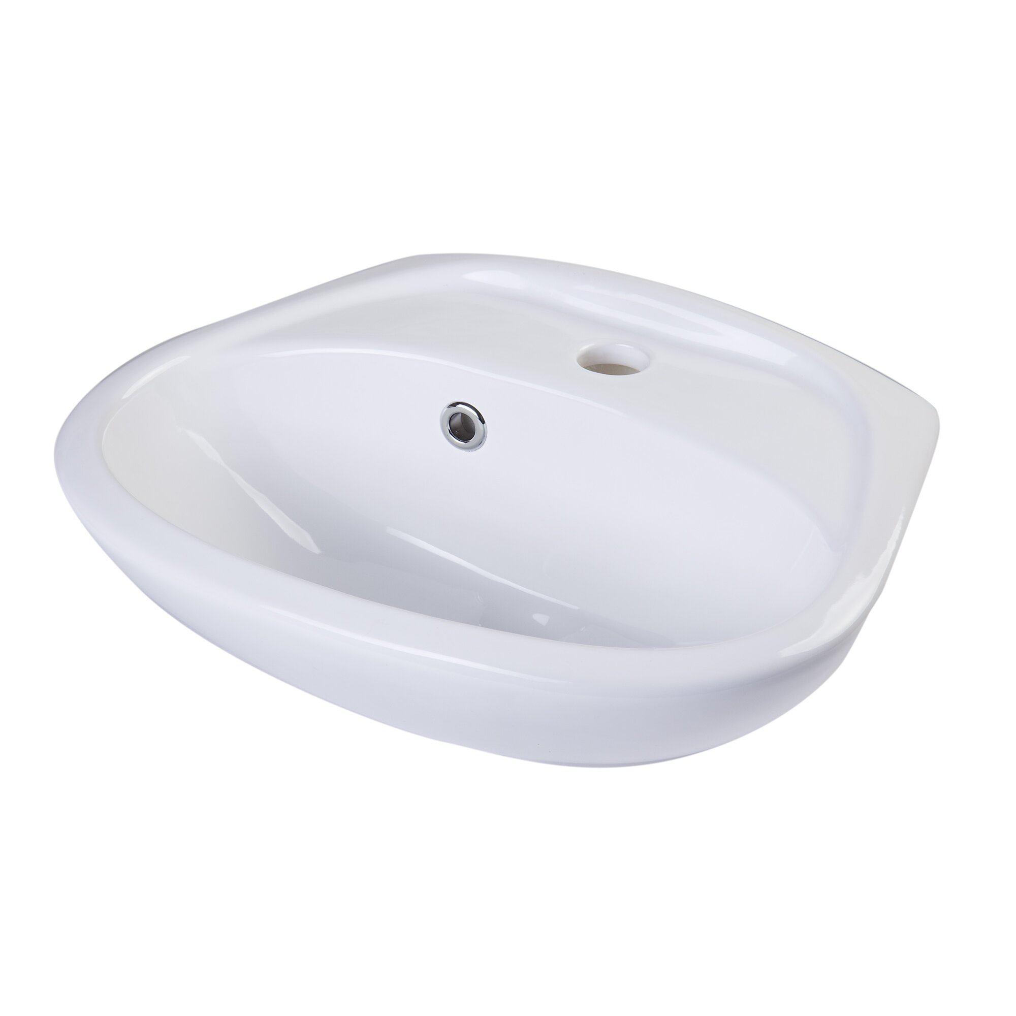 Alfi brand small wall mount bathroom sink with overflow for Small wall mounted toilet