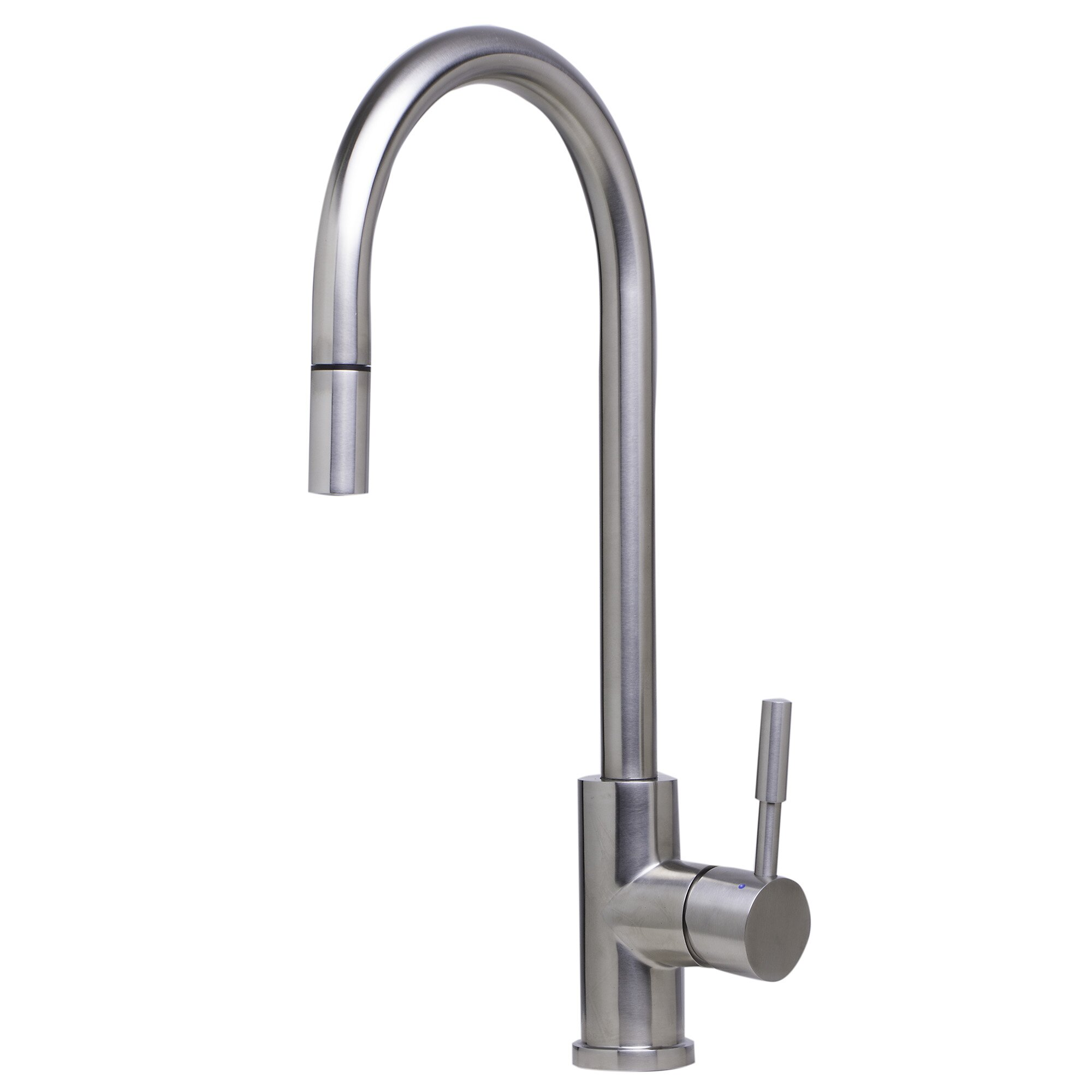 Kitchen Faucet Brands : Single Handle Deck Mount Pull Down Kitchen Faucet by Alfi Brand