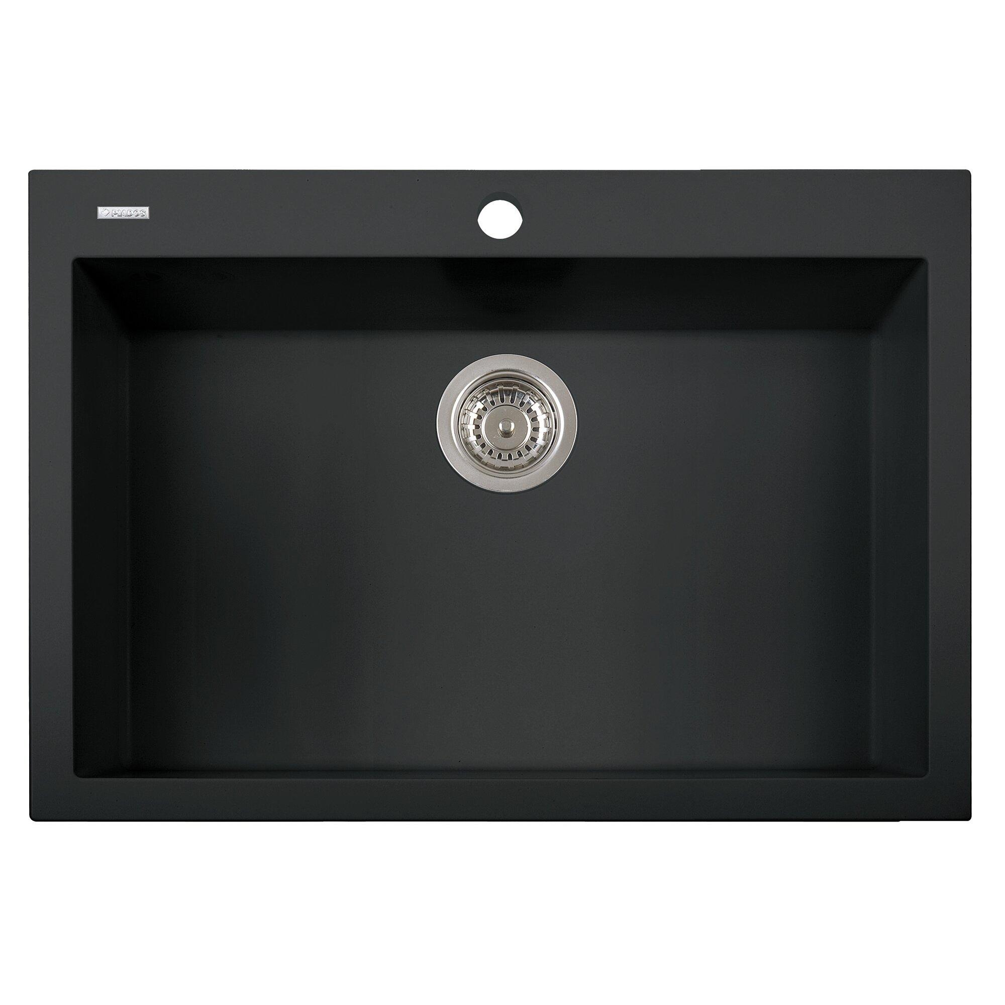 "Alfi Brand 30"" X 20"" Drop-In Single Bowl Kitchen Sink"