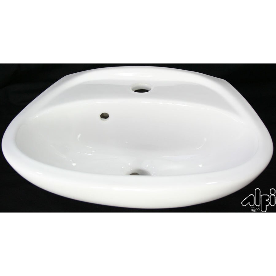 Alfi Brand Small Wall Mount Bathroom Sink with Overflow