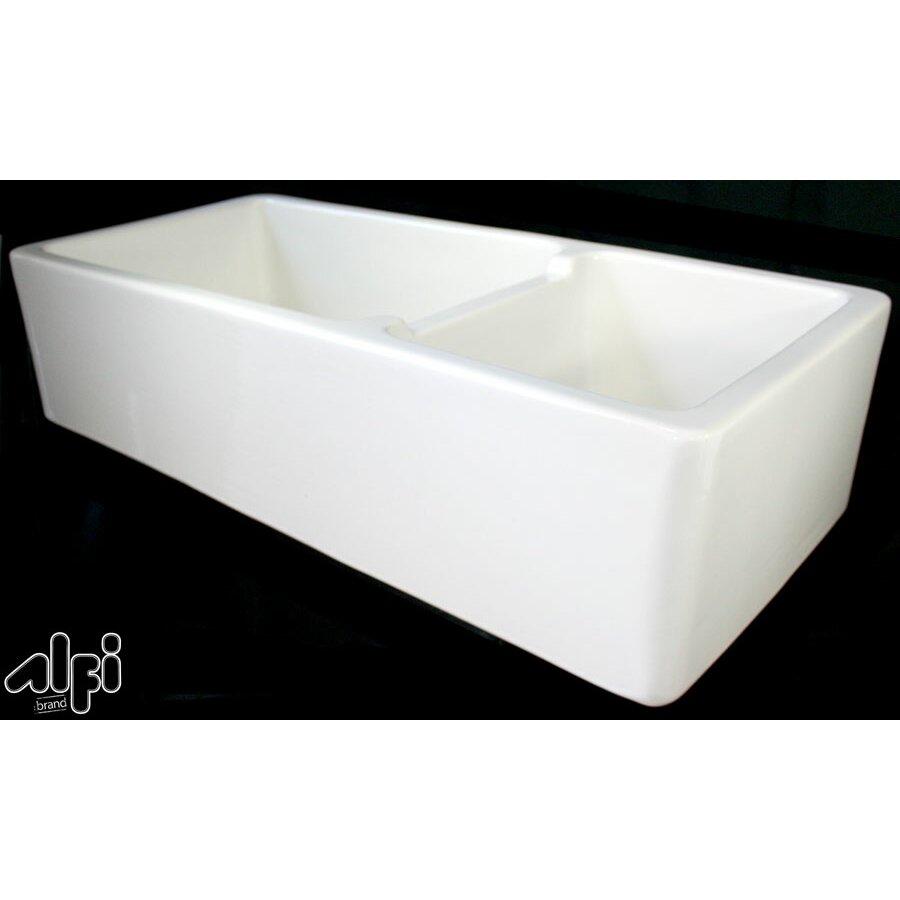 Double Bowl Fireclay Farmhouse Sink : ... 18.5