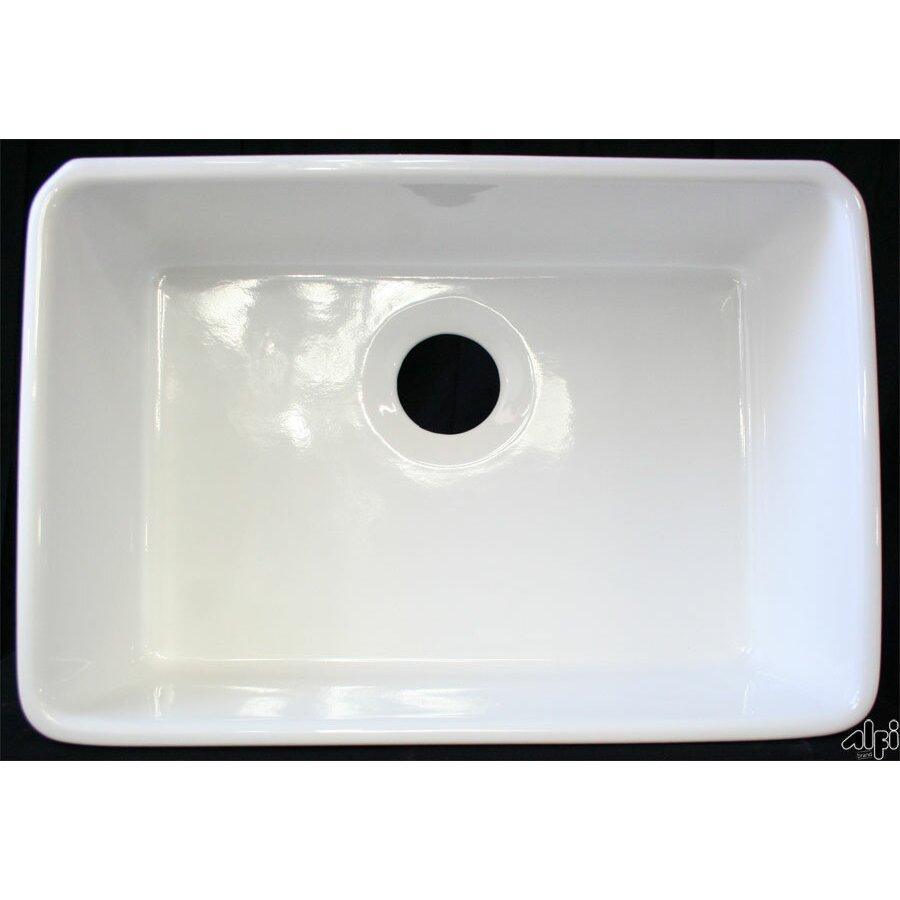 """Alfi Brand 23.5"""" X 16"""" Farmhouse Kitchen Sink & Reviews"""