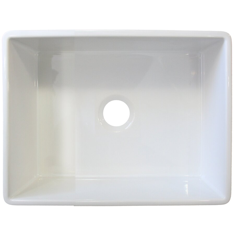 Alfi Brand   X   Single Bowl Farmhouse Kitchen Sink