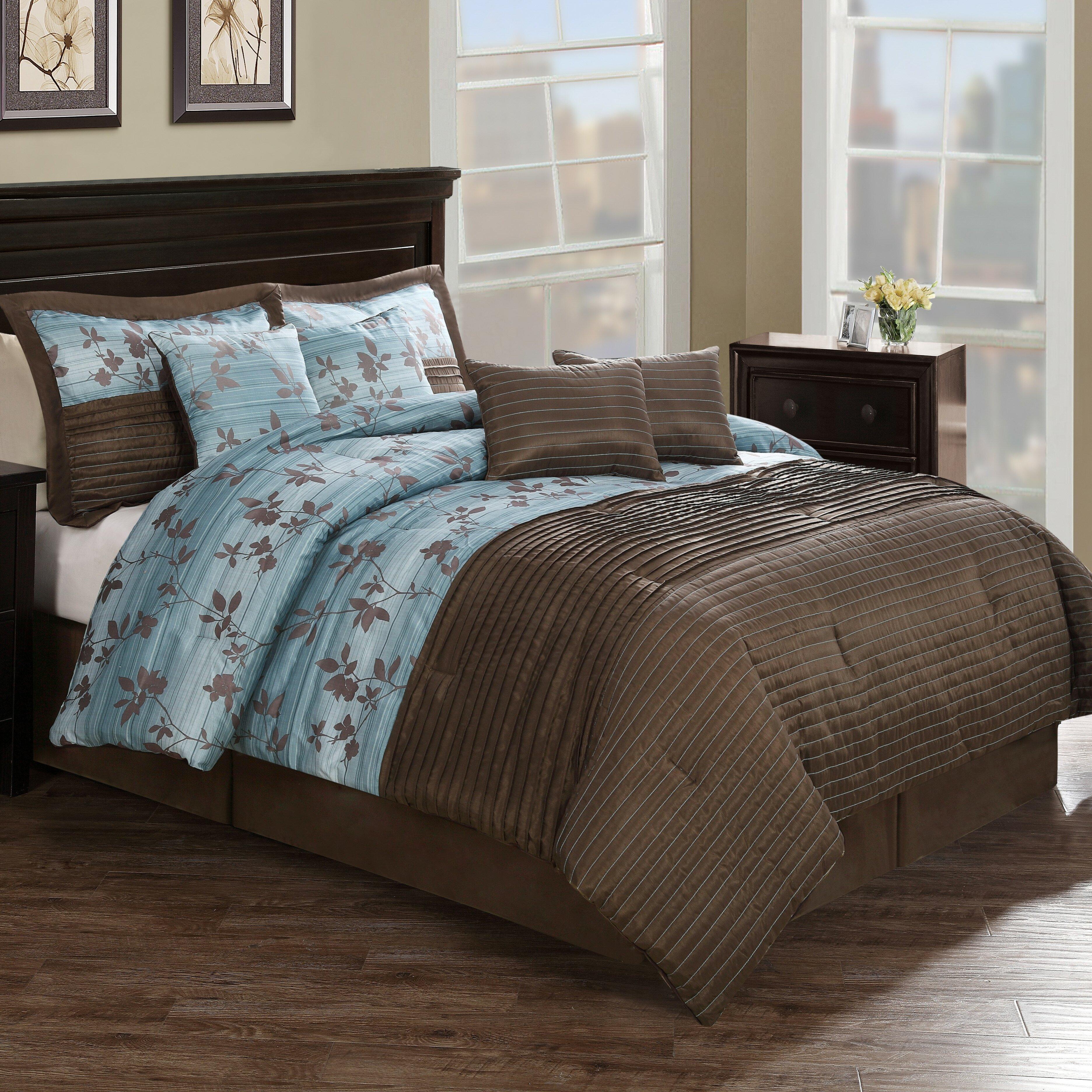 Monroe Pleat 8 Piece Comforter Set Amp Reviews Wayfair