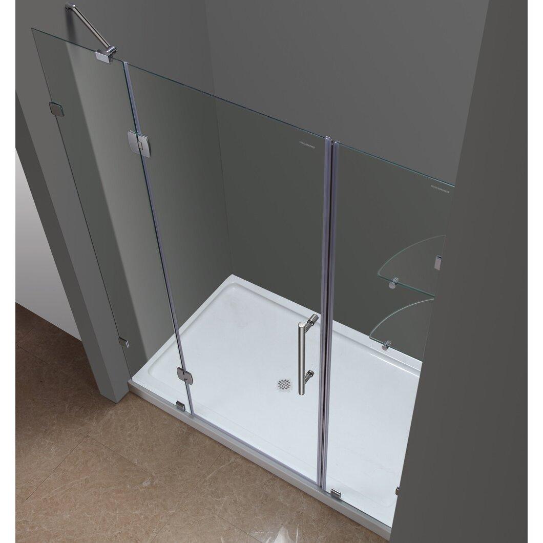 5 foot shower door frameless sliding shower door for Five foot sliding glass door