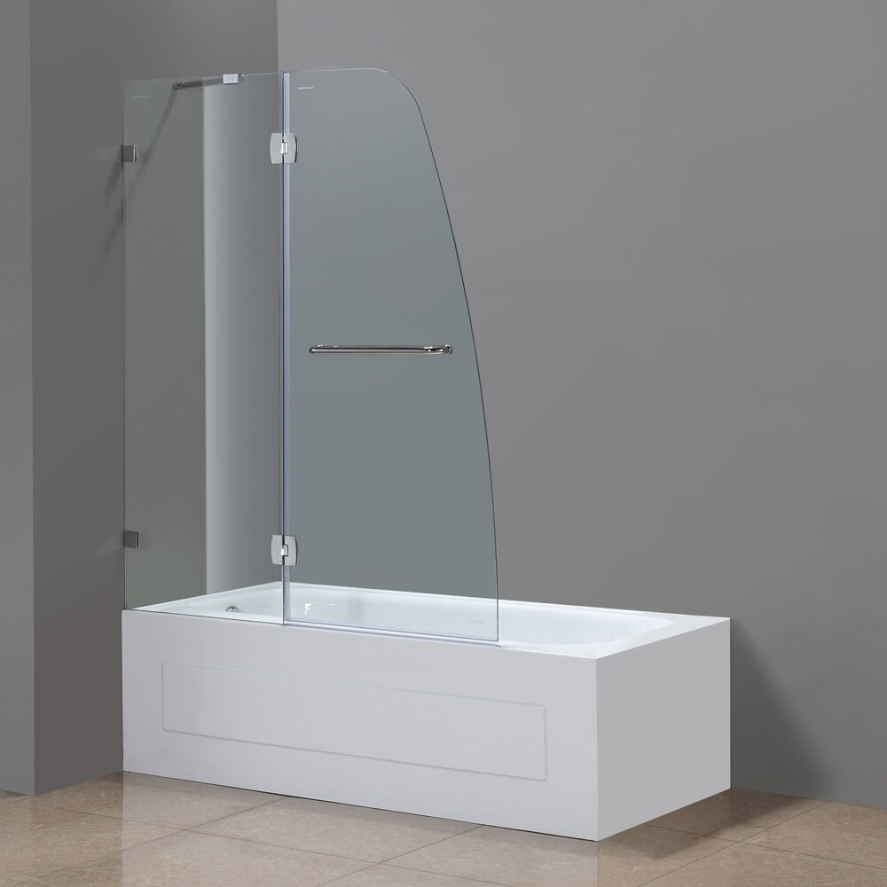Aston soleil 48 x 58 hinged completely frameless tub for Tub height