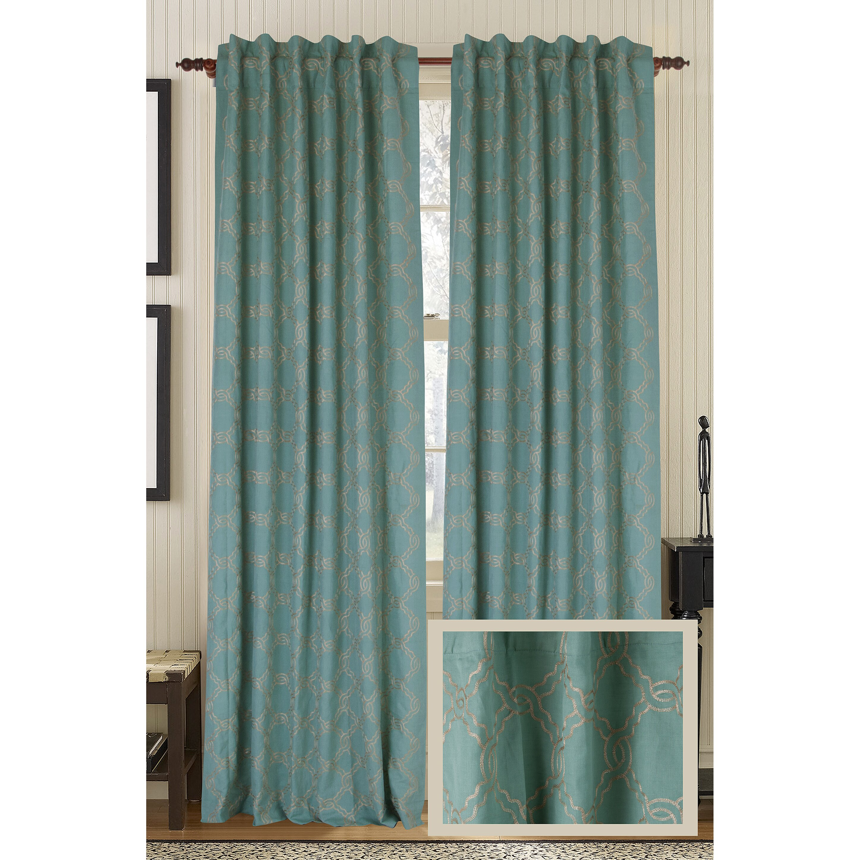 Gracious Living Zen Rod Linen Cotton Blend Pocket Single Curtain Panel Reviews Wayfair