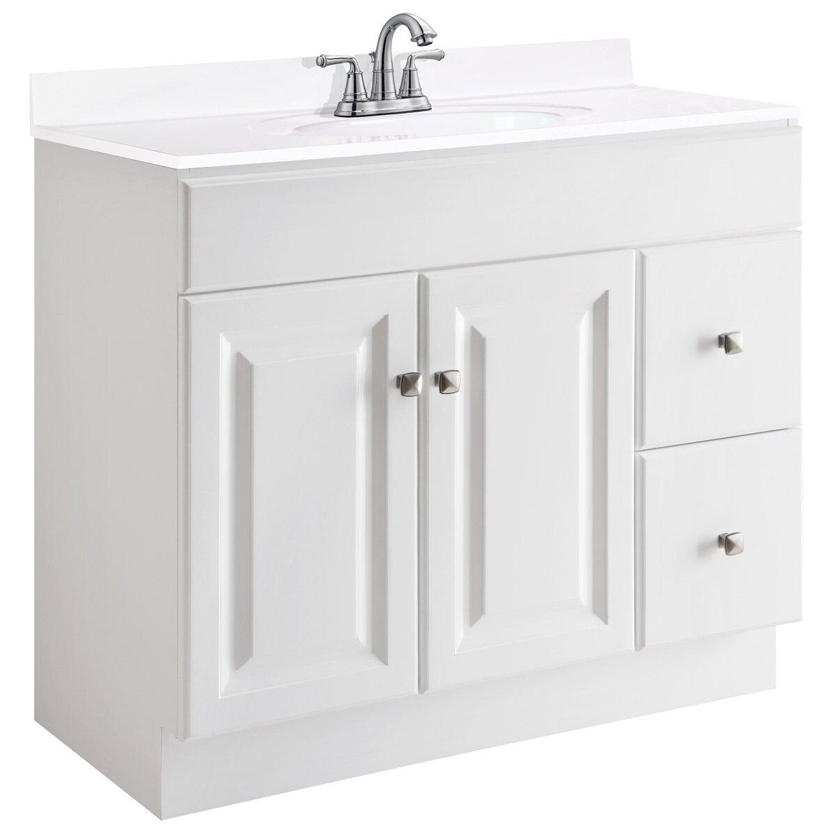 "Home Design Bathroom Vanity: Design House Wyndham 36"" Single Bathroom Vanity Base"