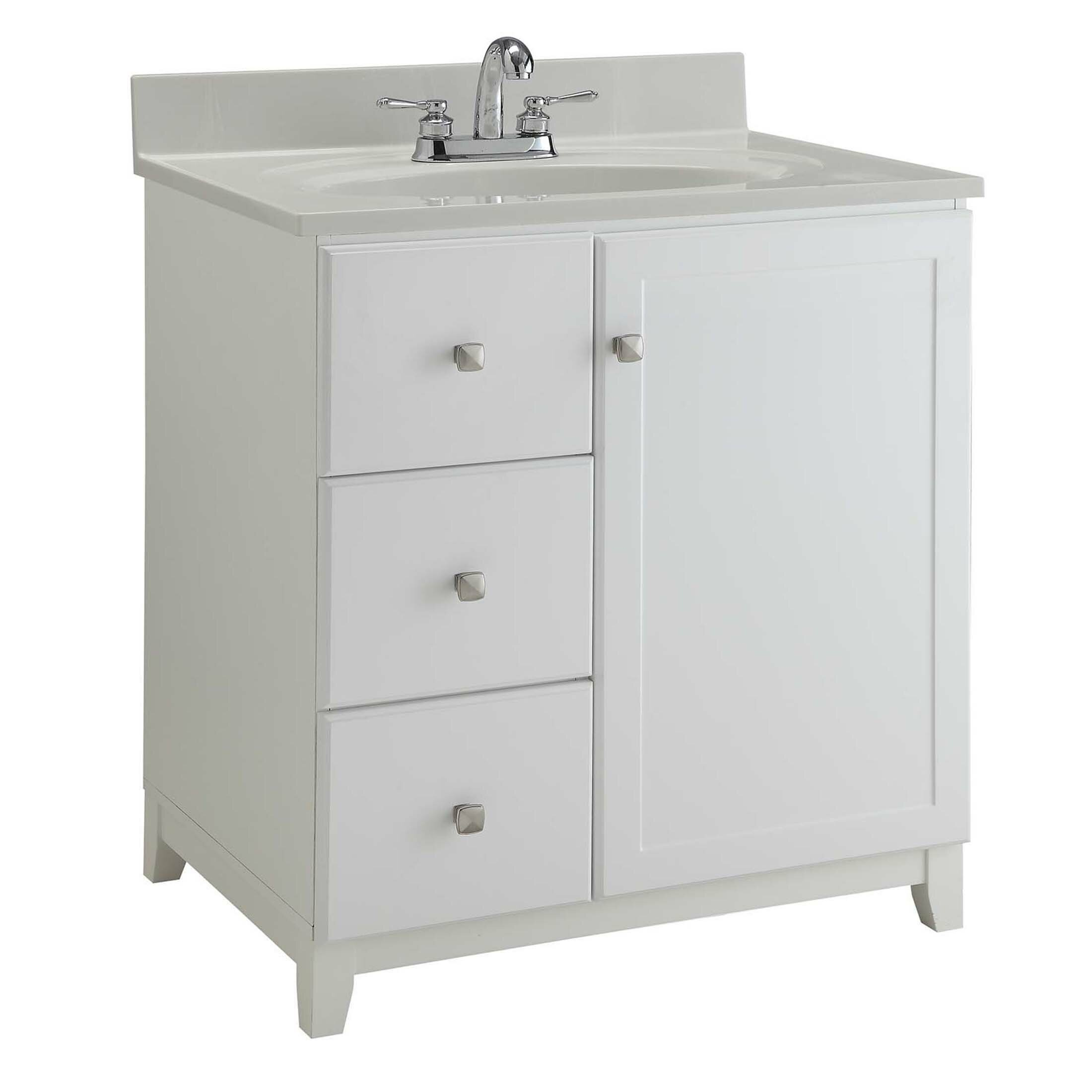 "Home Design Bathroom Vanity: Design House 40"" Single Bathroom Vanity Base & Reviews"