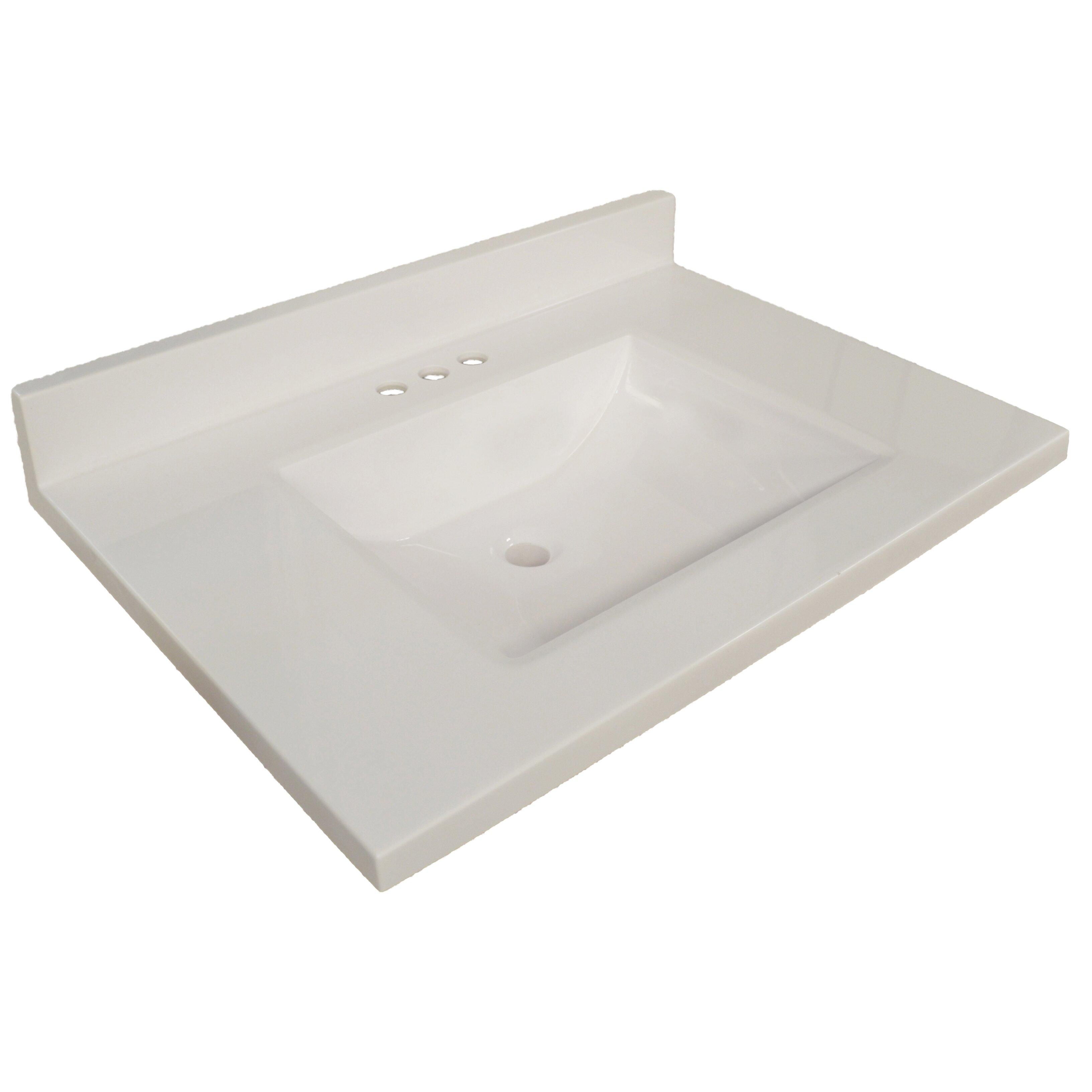 design house 37 quot single bathroom vanity top reviews