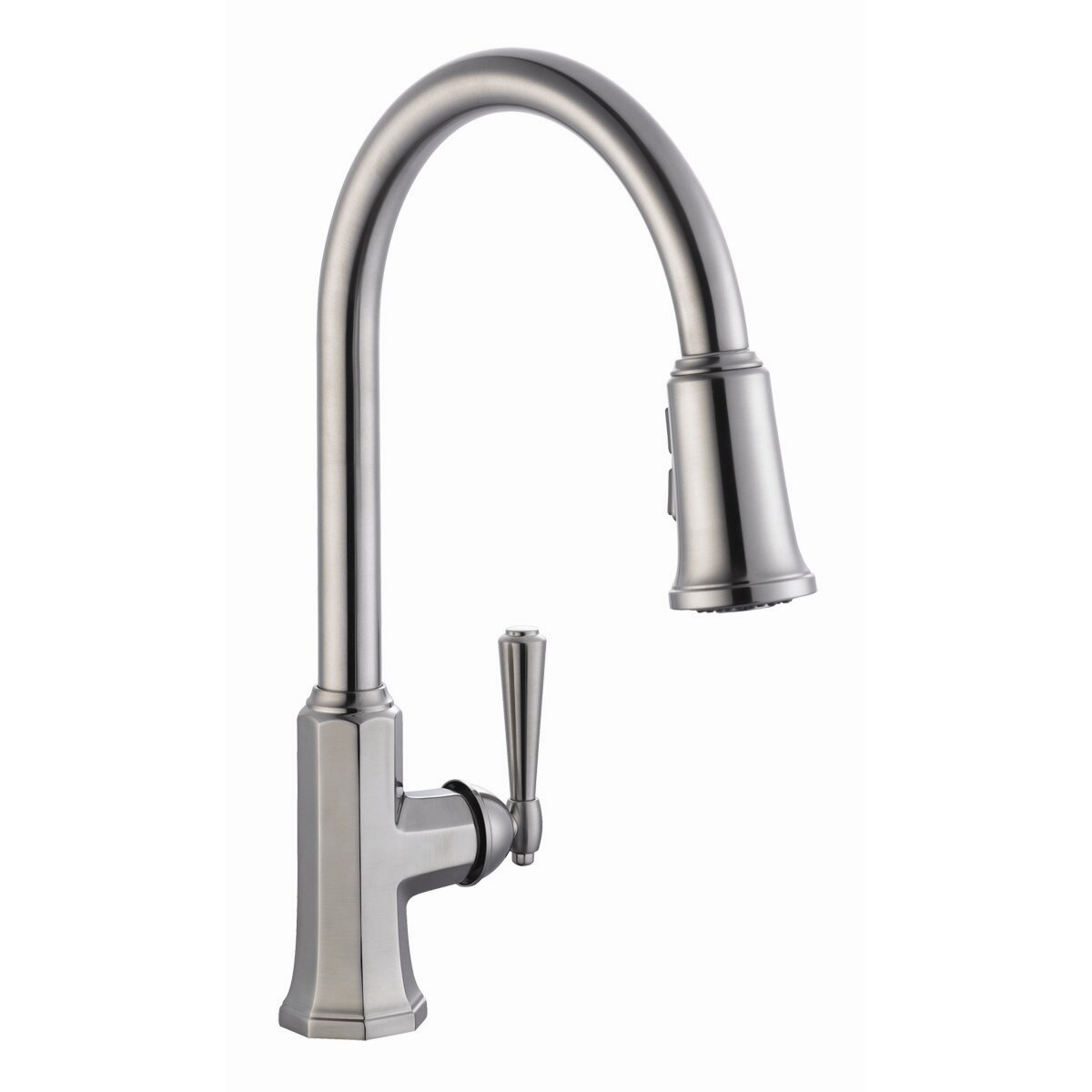 Design house barcelona single handle kitchen faucet with pullout sprayer reviews wayfair Design house kitchen faucets reviews