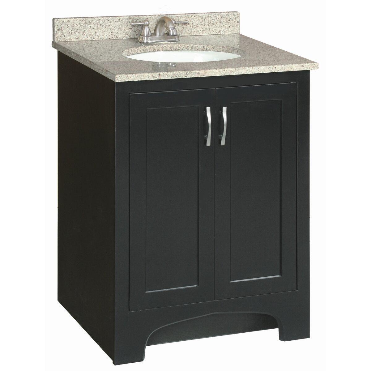 Design house ventura 24 single bathroom vanity base for Bathroom cabinets ventura