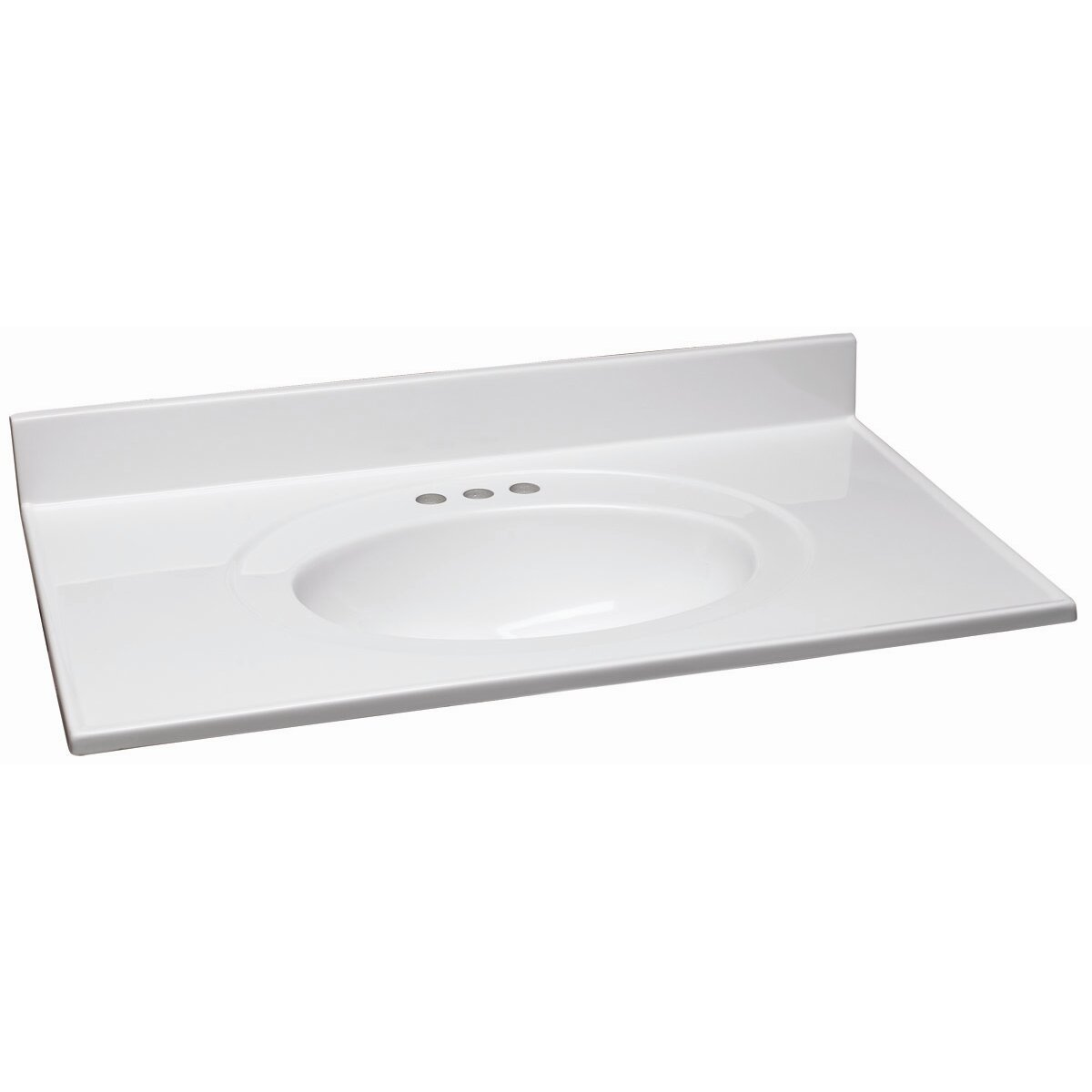 design house cultured marble 19 quot single bowl vanity top
