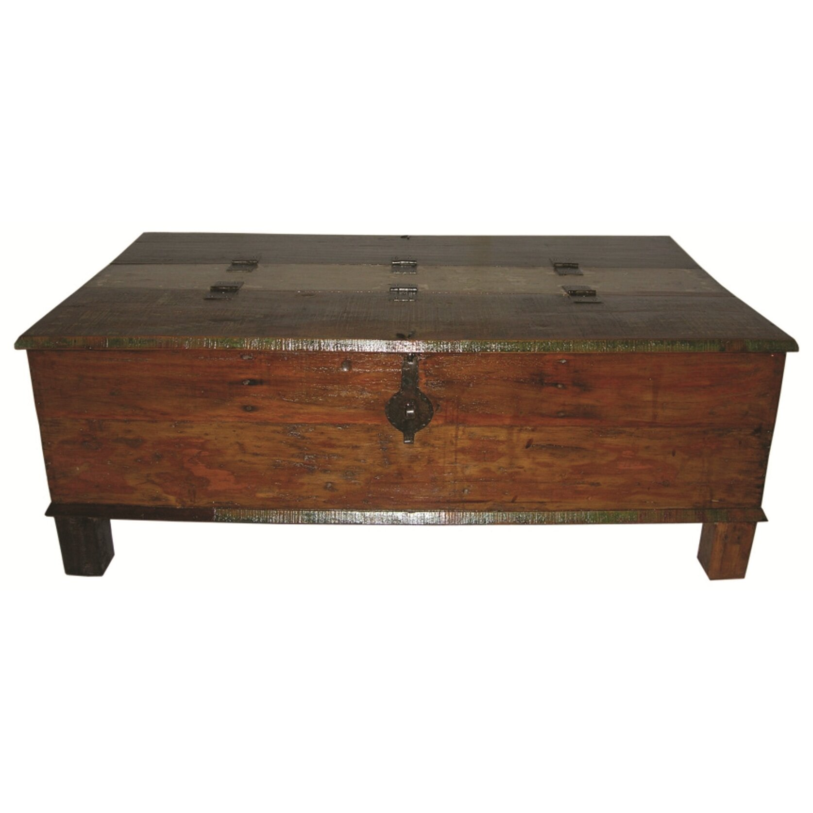 Moti furniture box trunk coffee table reviews wayfair Trunk coffee tables