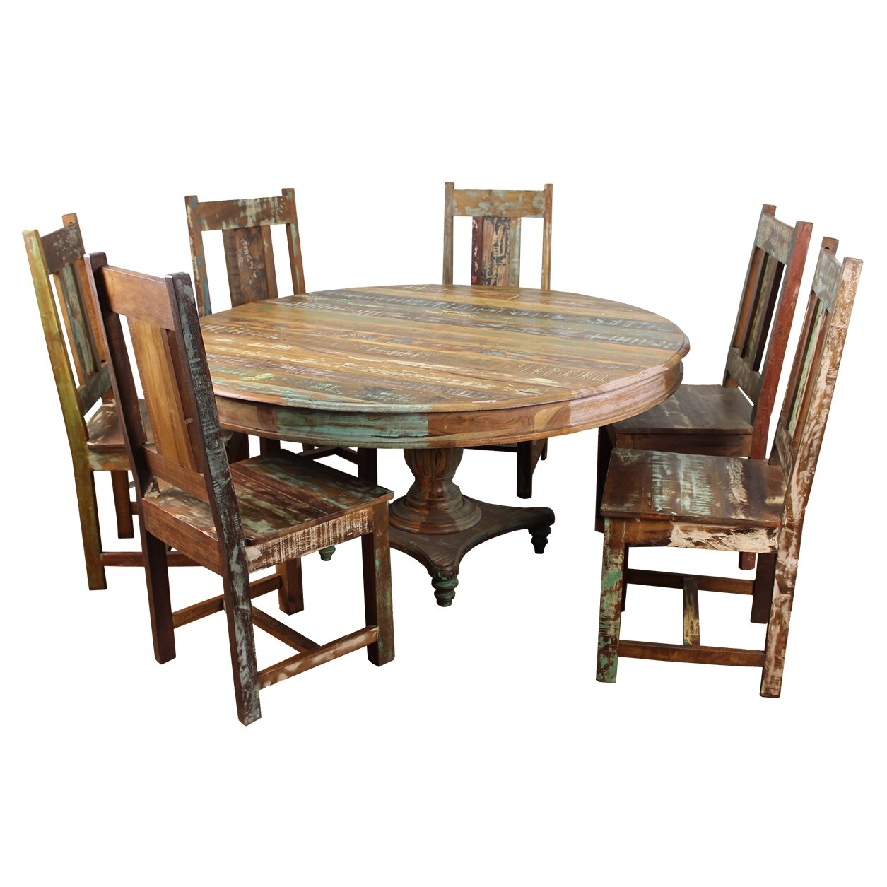 moti furniture trinidad 7 piece dining set reviews wayfair