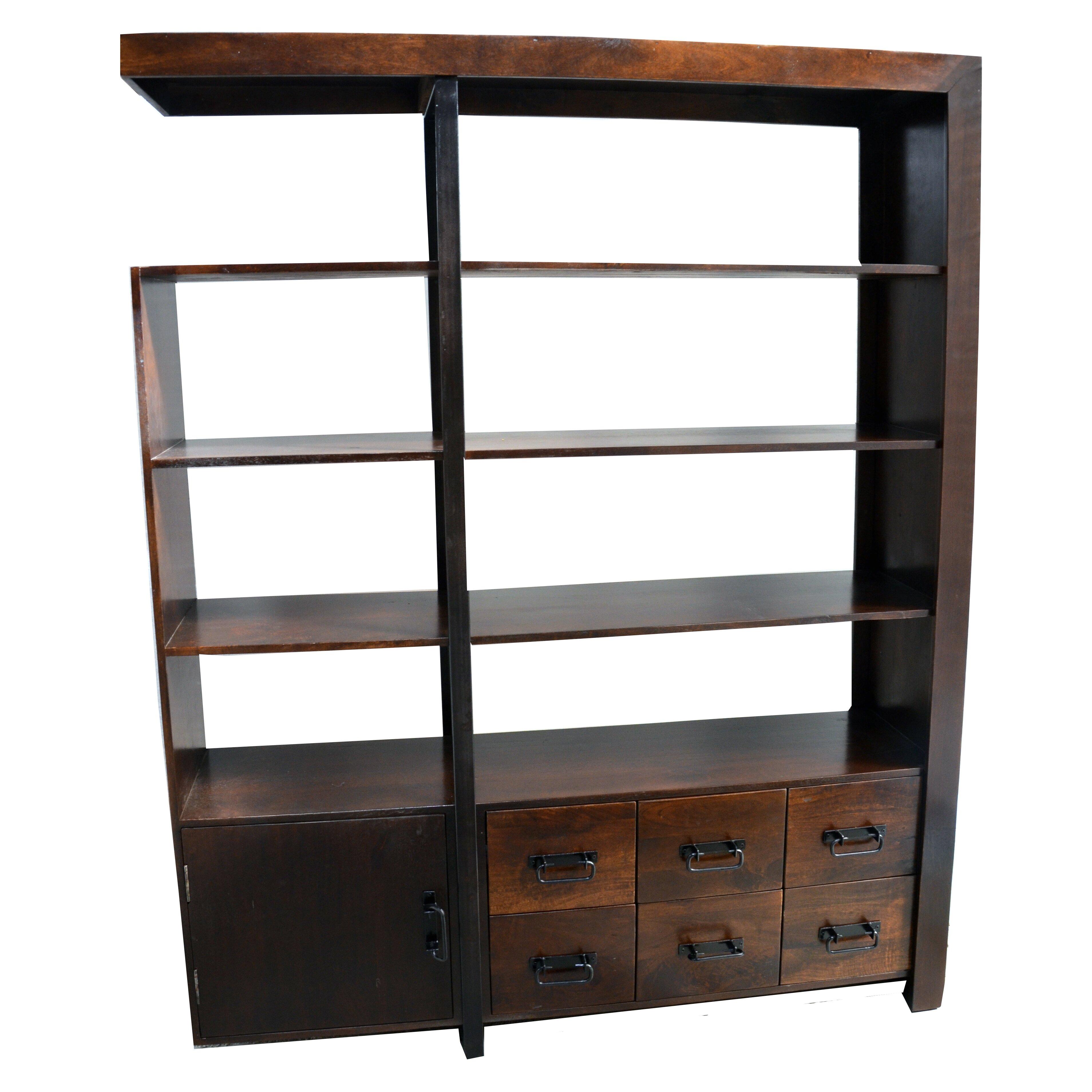 Moti Furniture Ramsey 79 Quot Accent Shelves Bookcase Wayfair