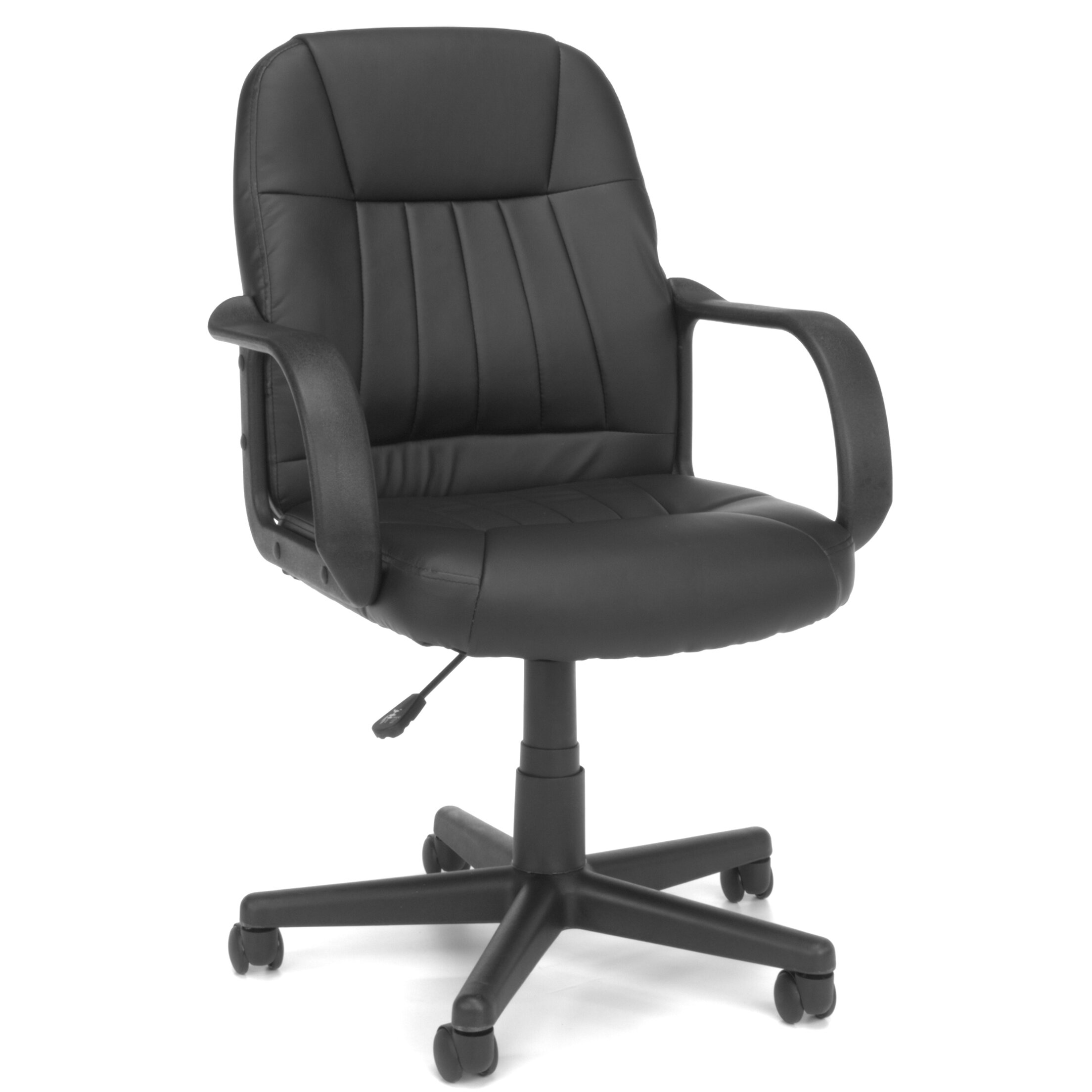 ofm essentials mid back leather executive office chair reviews wayfair. Black Bedroom Furniture Sets. Home Design Ideas