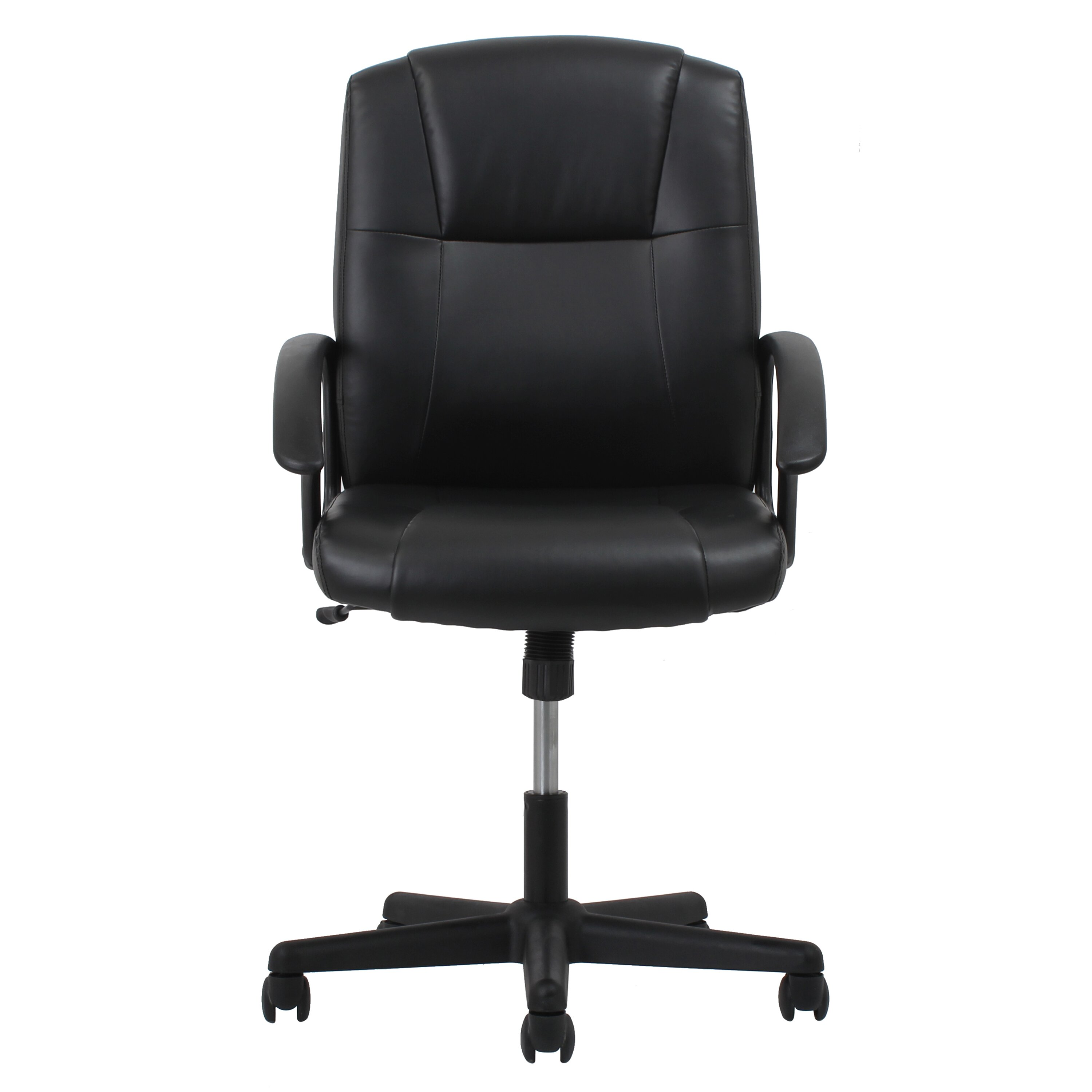 Ofm ergonomic leather executive office chair with arms for Office leather chair