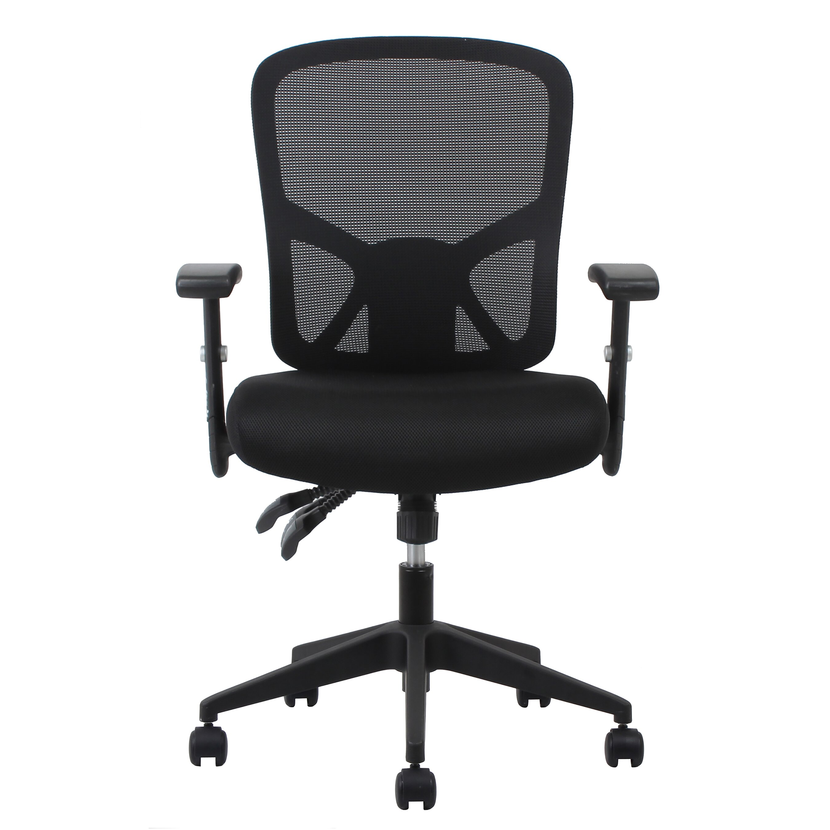 ofm essentials mid back mesh task chair with arms and lumbar support