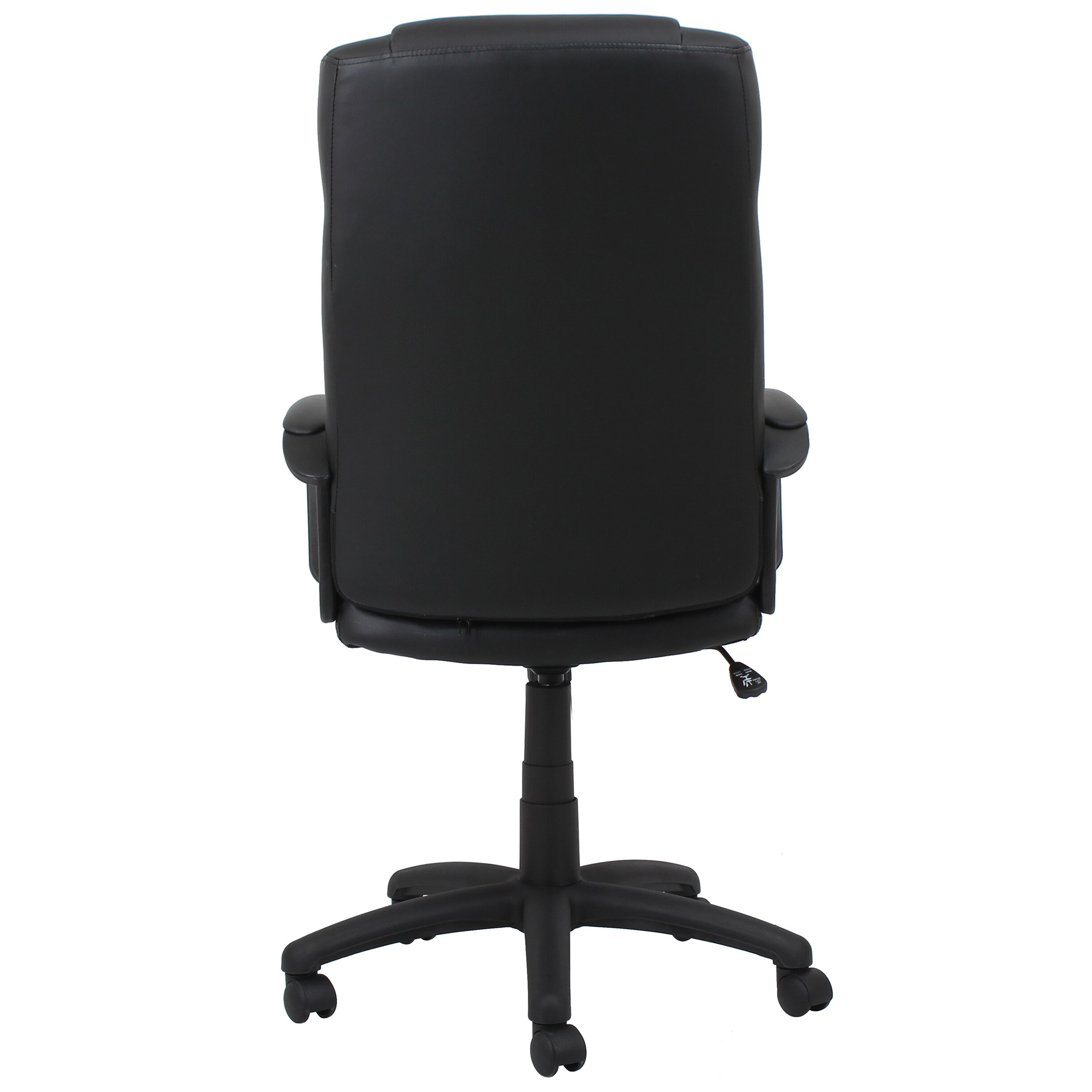 Ofm essentials high back leather desk chair with arms