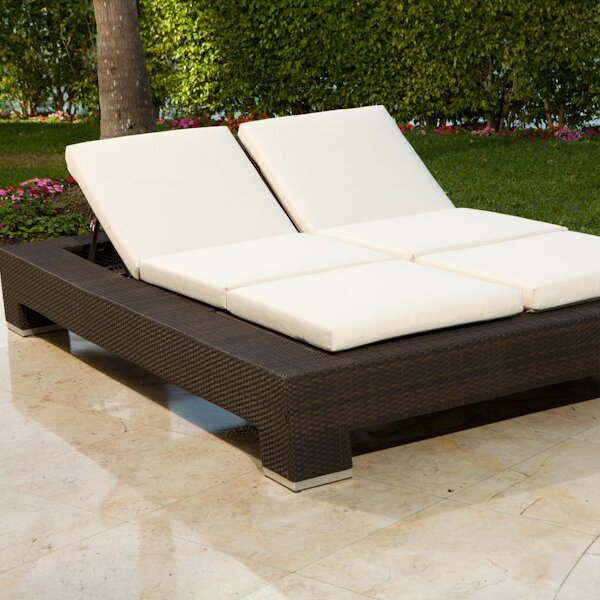 Source Outdoor King Double Chaise Lounge with Cushion ...