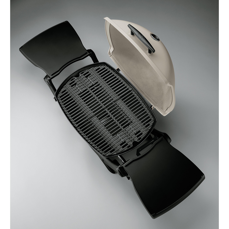 weber q series 2200 lp titanium portable gas grill reviews wayfair. Black Bedroom Furniture Sets. Home Design Ideas