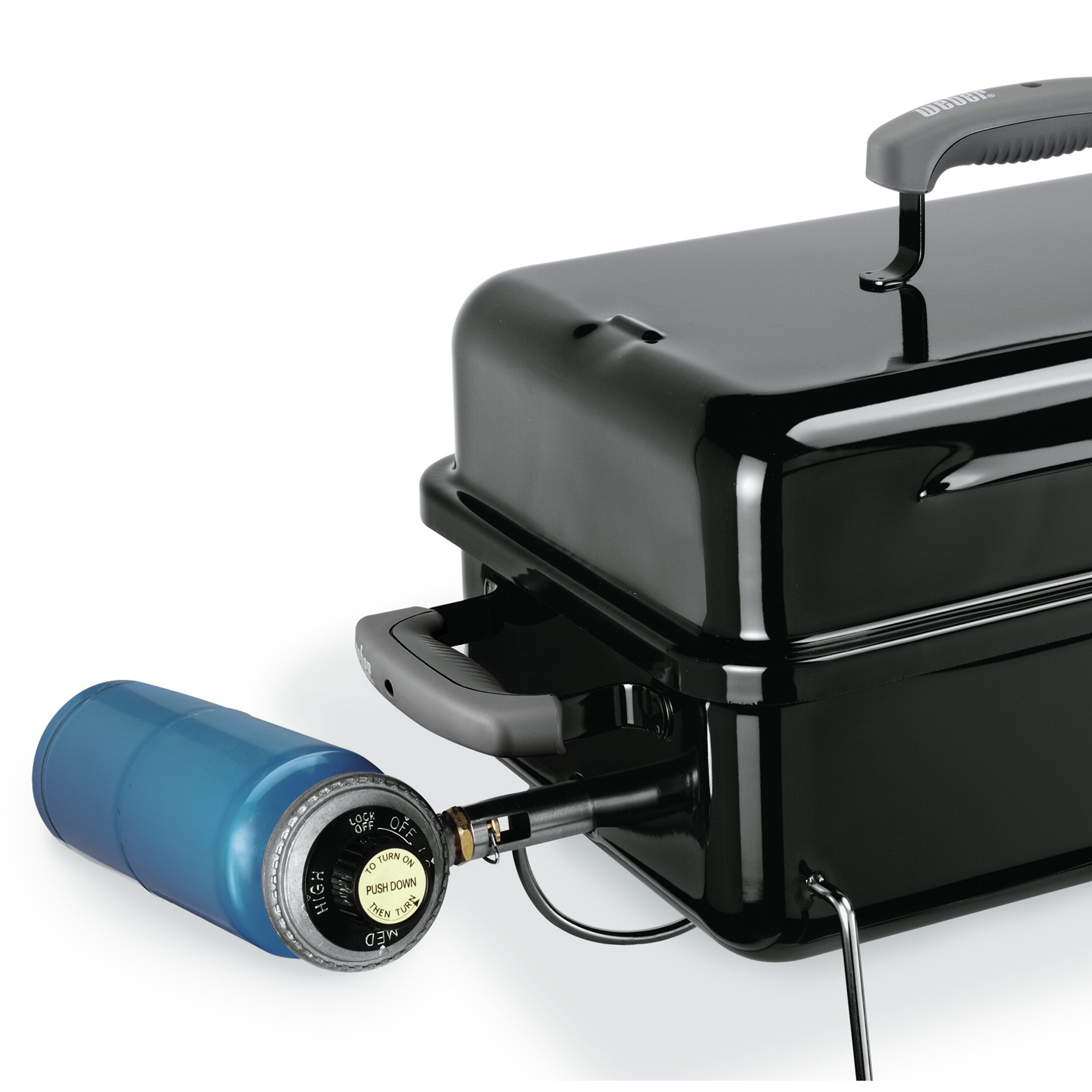 Weber go anywhere portable gas grill reviews wayfair for Weber gasgrill go anywhere