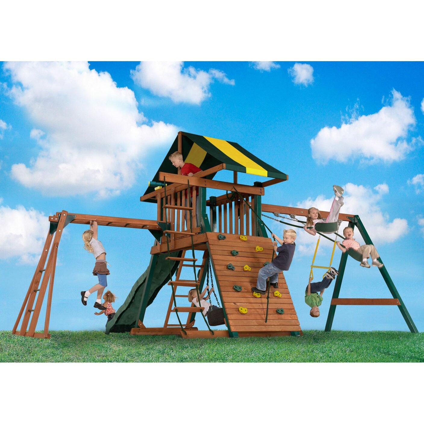 Backyard Play Systems Castle Rock Swing Set & Reviews