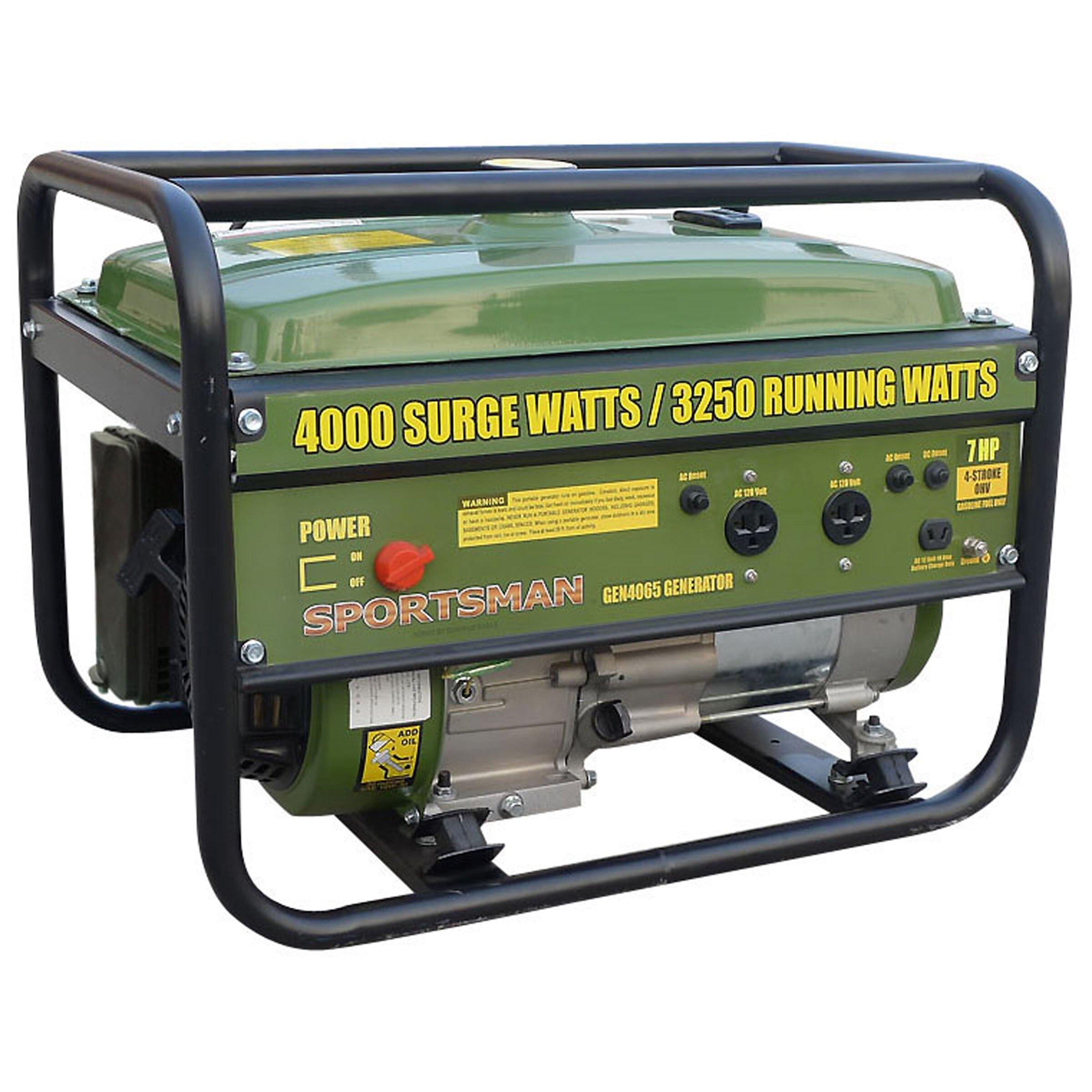 Sportsman 4,000 Watt Gasoline Generator with Recoil Start & Reviews | Wayfair