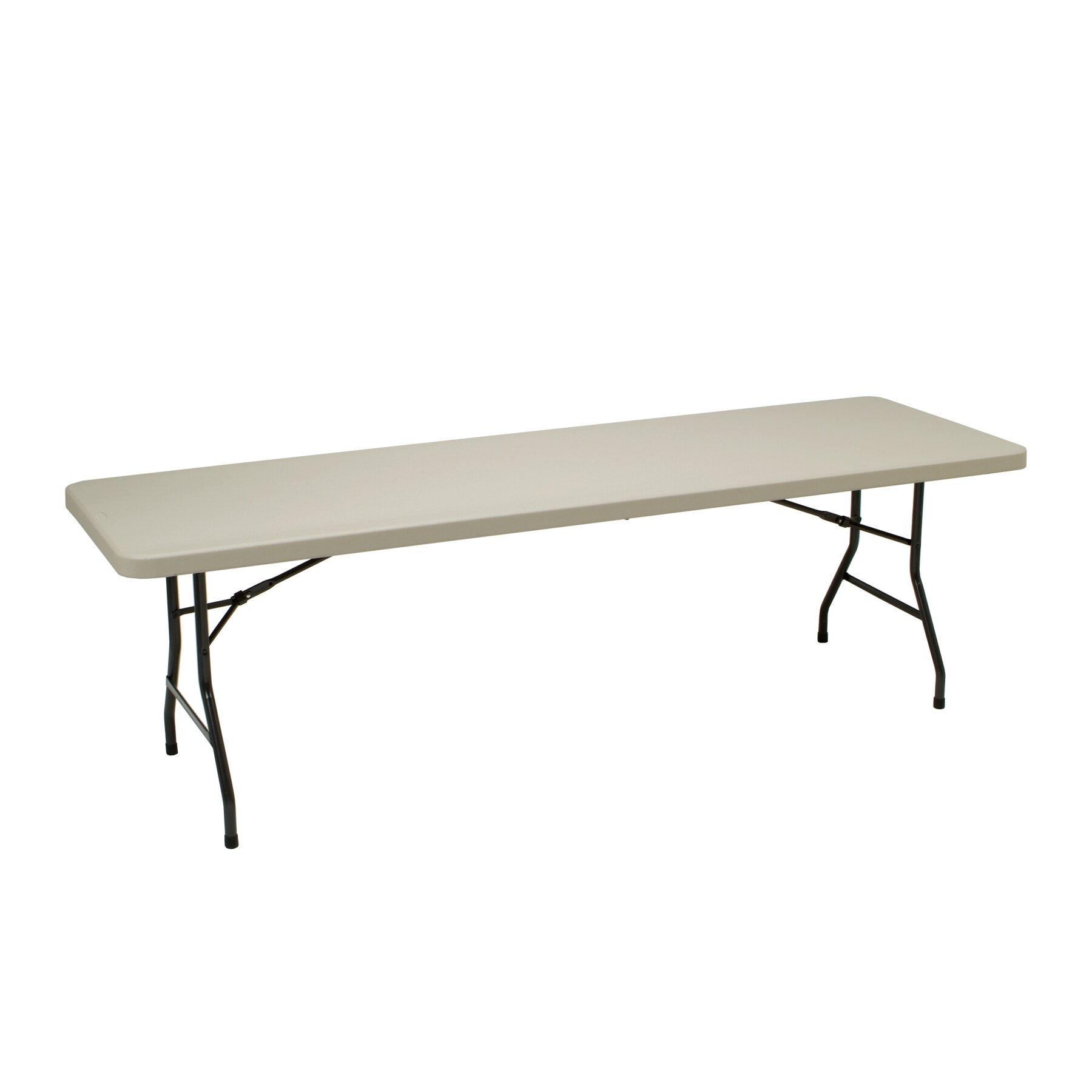 Meco 96 Quot Rectangular Folding Table Amp Reviews Wayfair