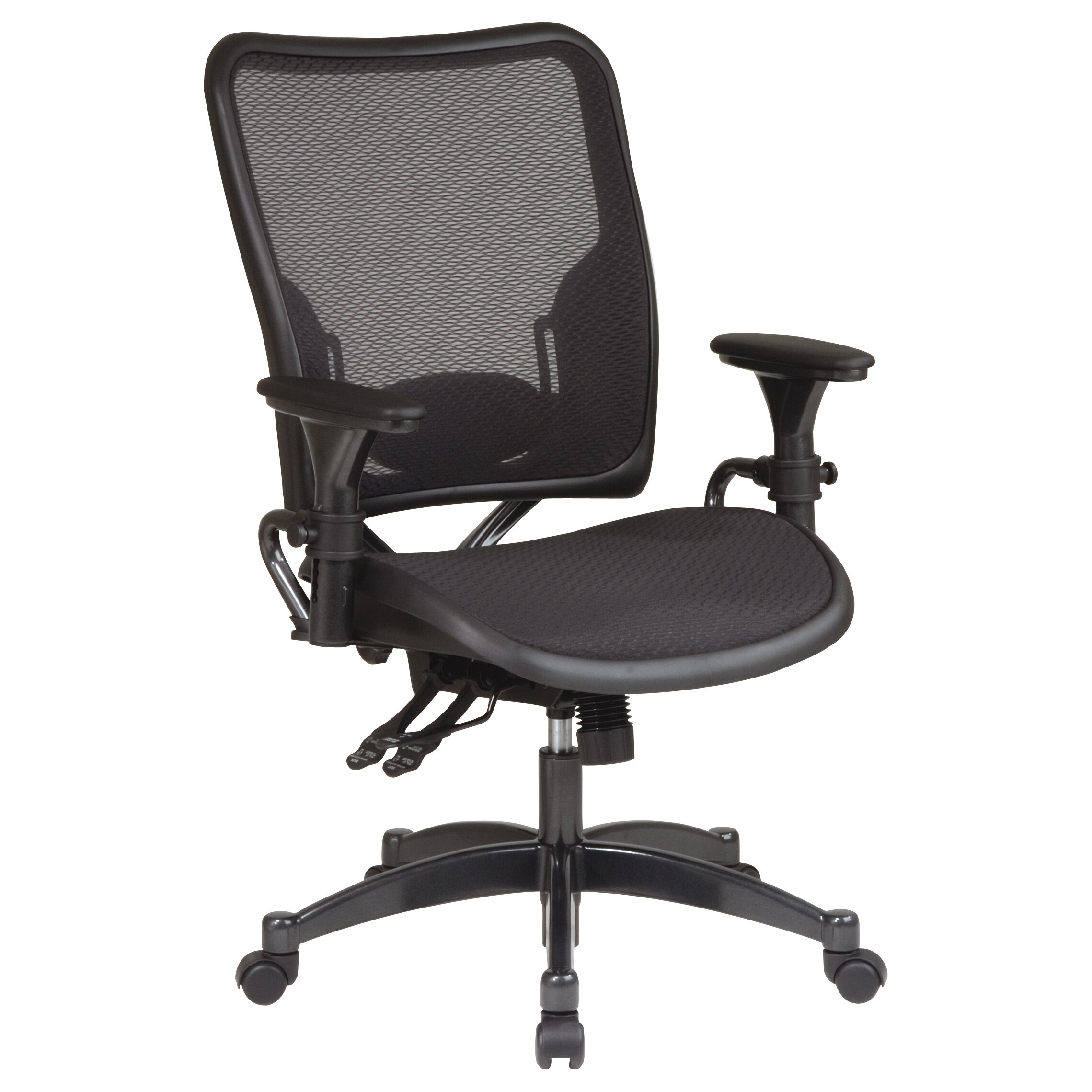Office star space dual function mid back office chair with for Function chairs