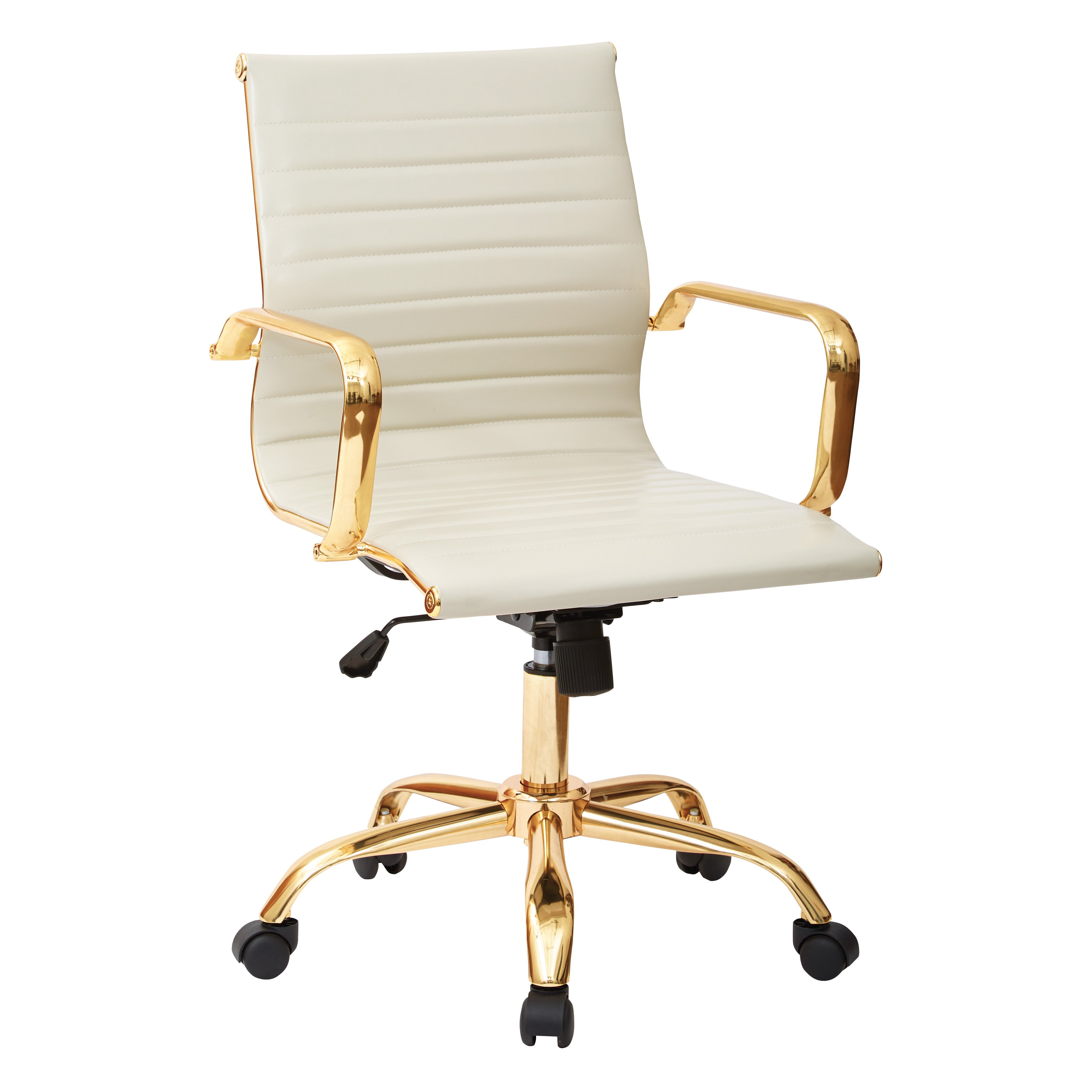 Office Star Mid Back Executive Office Chair With Arms