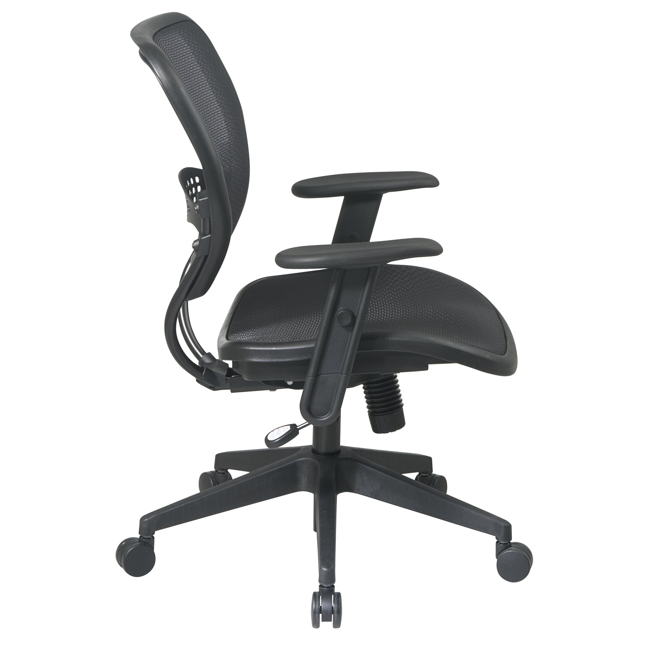 Office Star SPACE Mid Back Task Chair With Adjustable Arms Reviews Wa