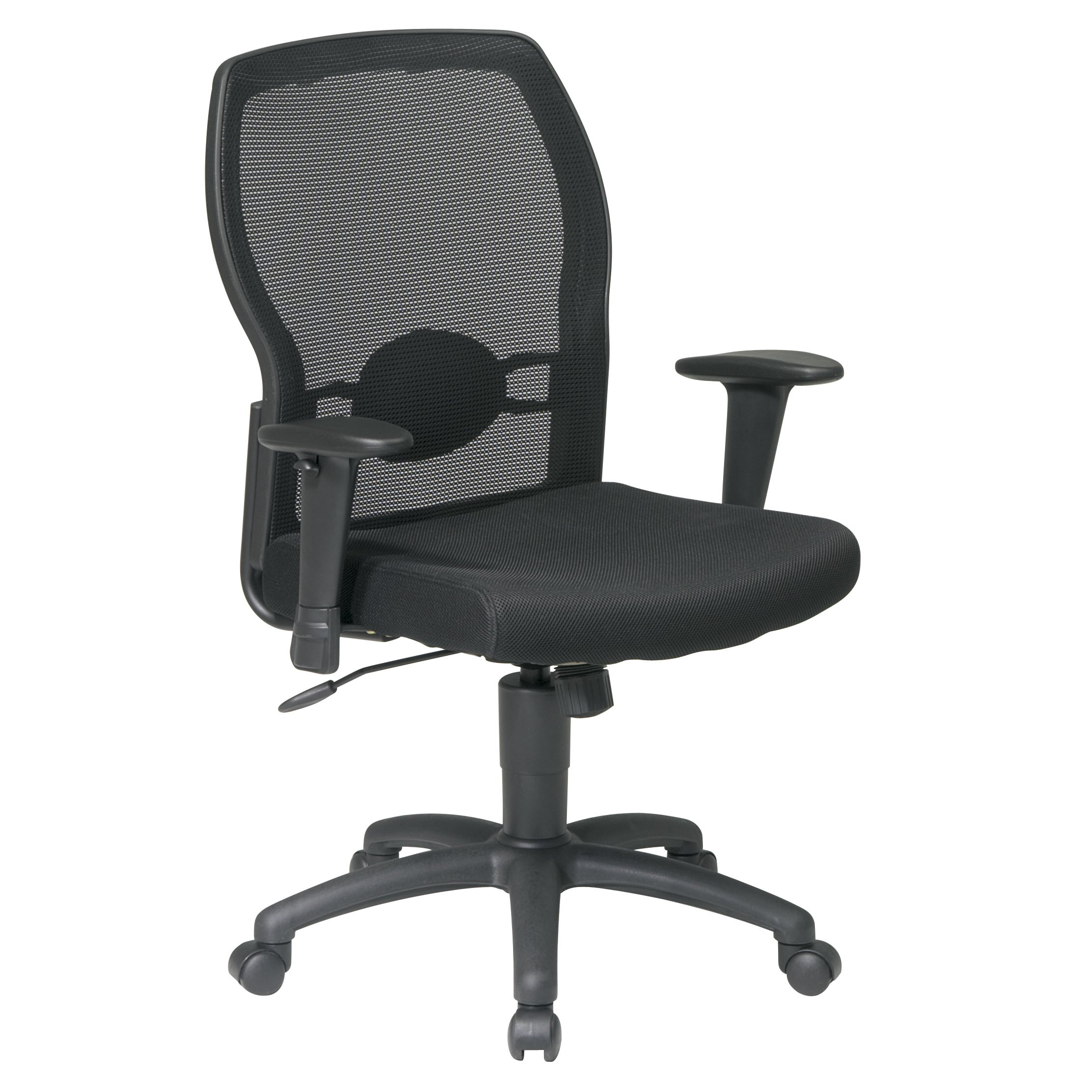 Office Star Mid Back Mesh Office Chair With Adjustable Arms Reviews W