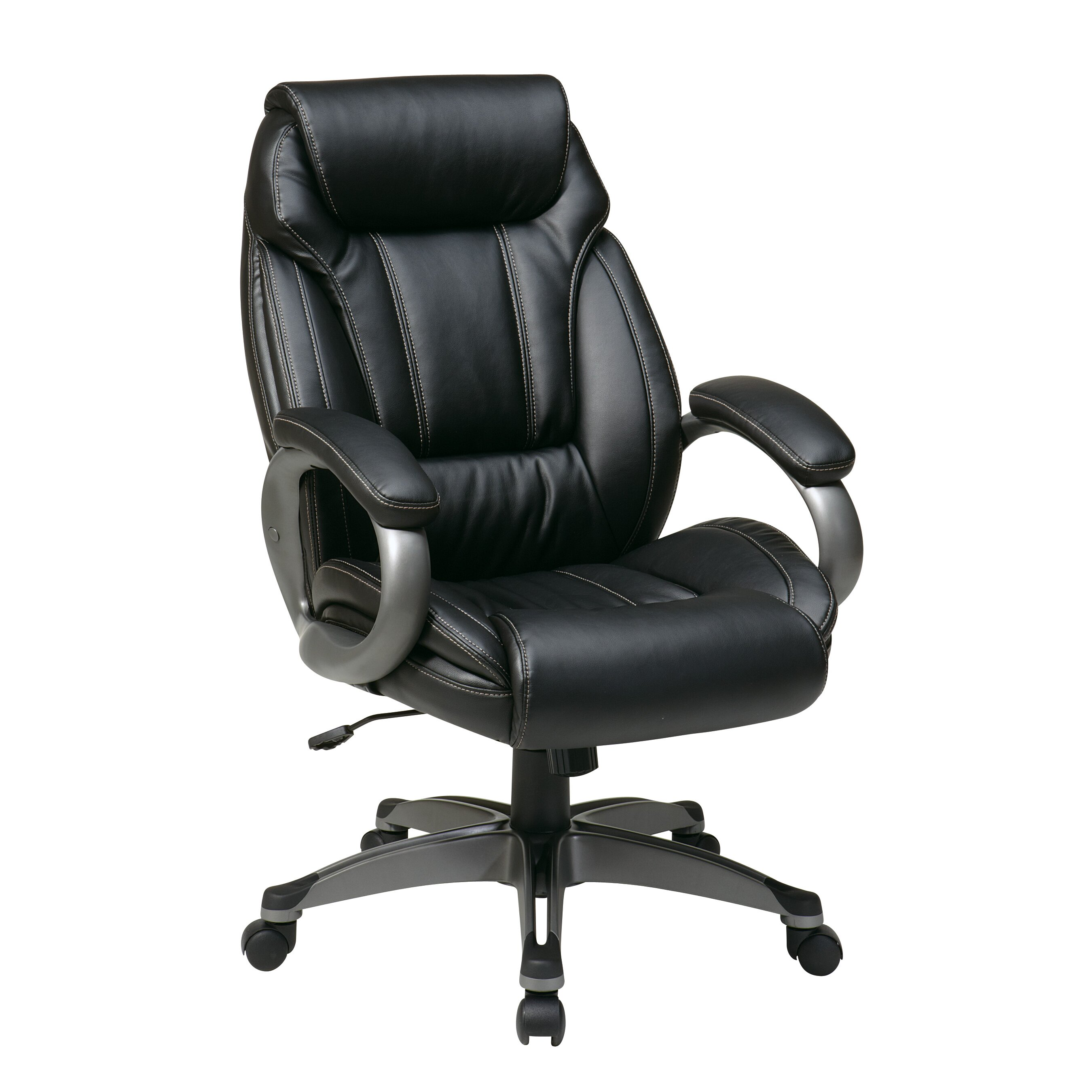 office star work smart leather executive chair reviews wayfair. Black Bedroom Furniture Sets. Home Design Ideas